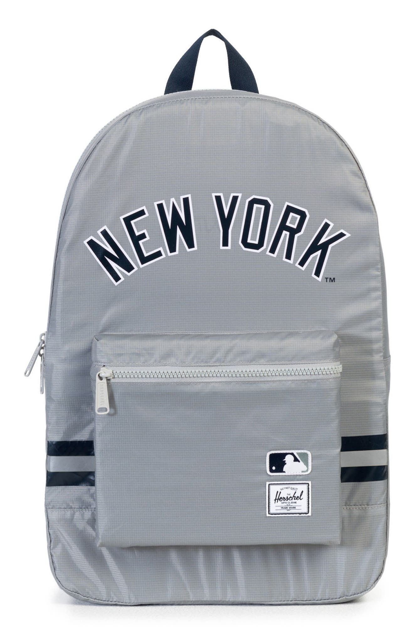 Packable - MLB American League Backpack,                             Main thumbnail 1, color,                             NEW YORK YANKEES
