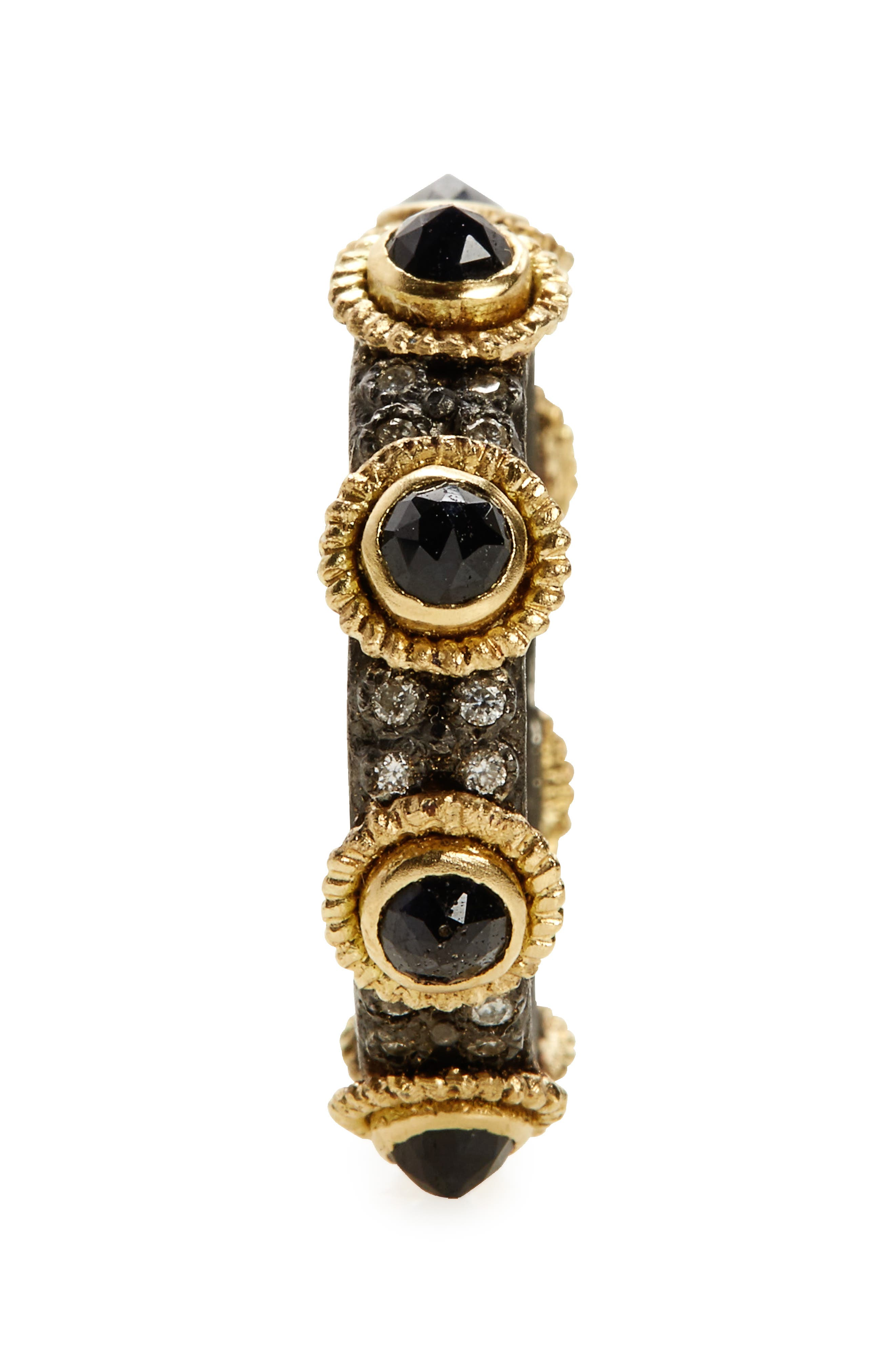 Old World Sapphire & Diamond Stacking Ring,                             Alternate thumbnail 2, color,                             GOLD