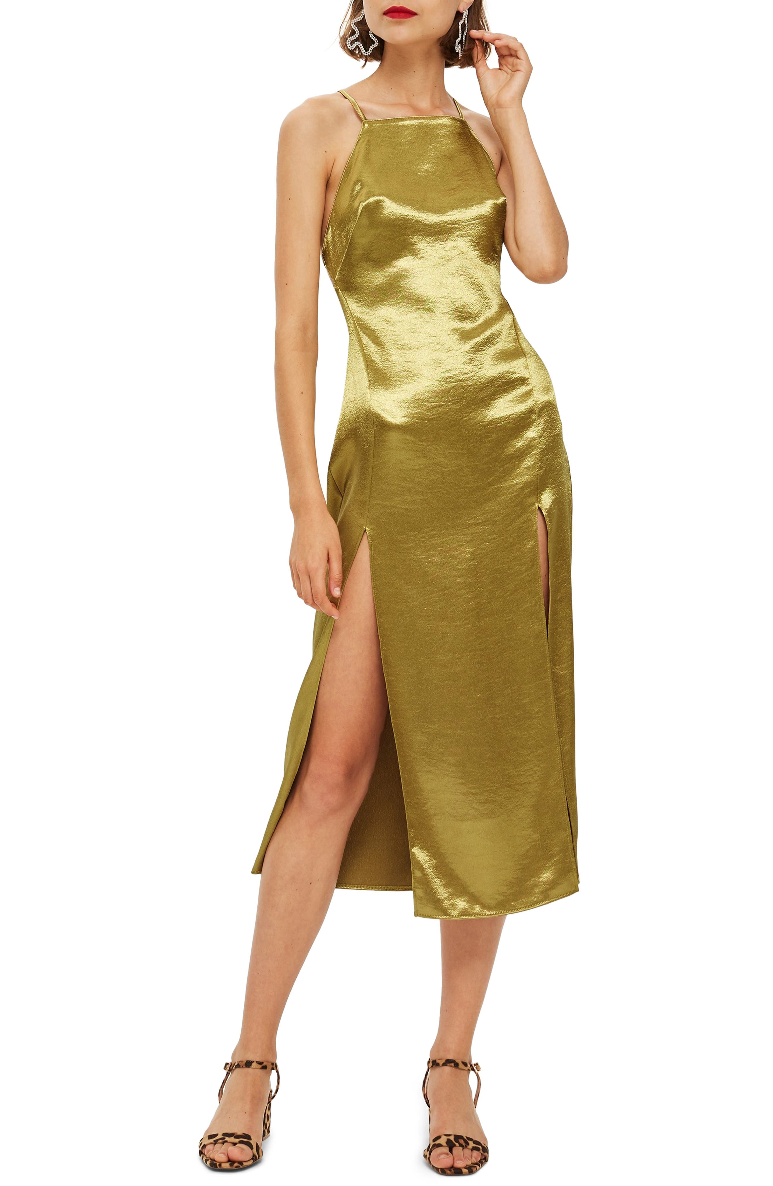 Met Slipdress,                             Main thumbnail 1, color,                             CHARTREUSE