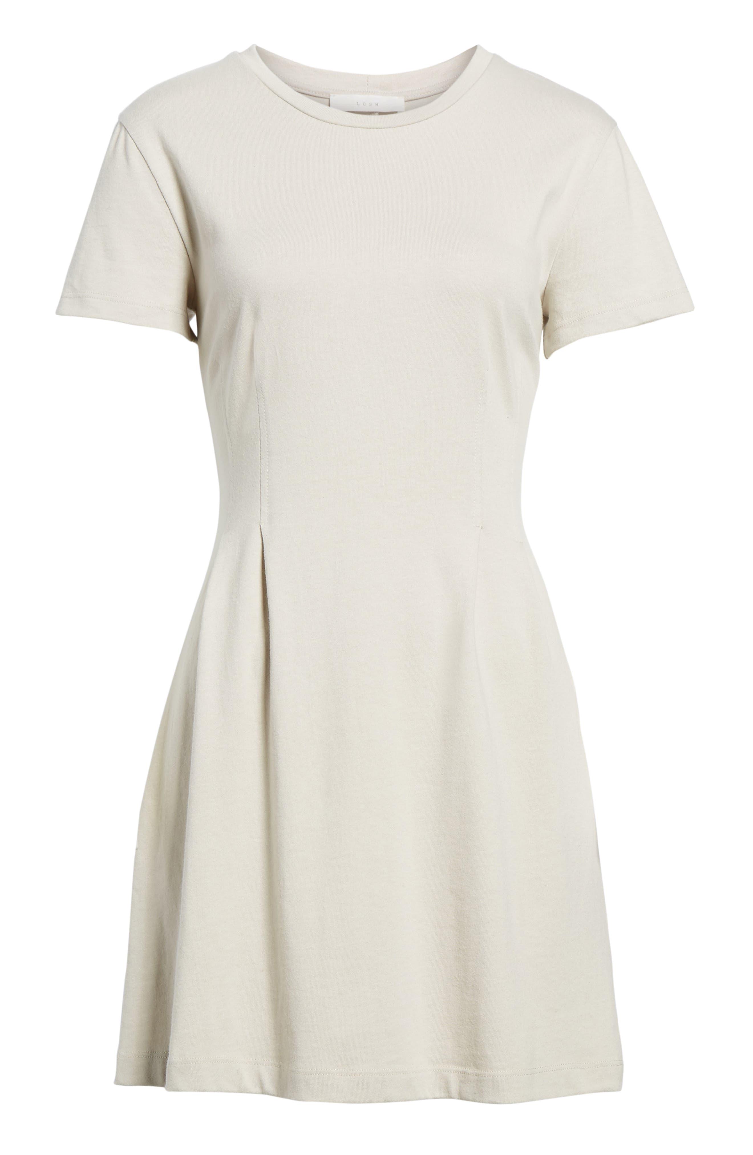 Cotton T-Shirt Dress,                             Alternate thumbnail 12, color,