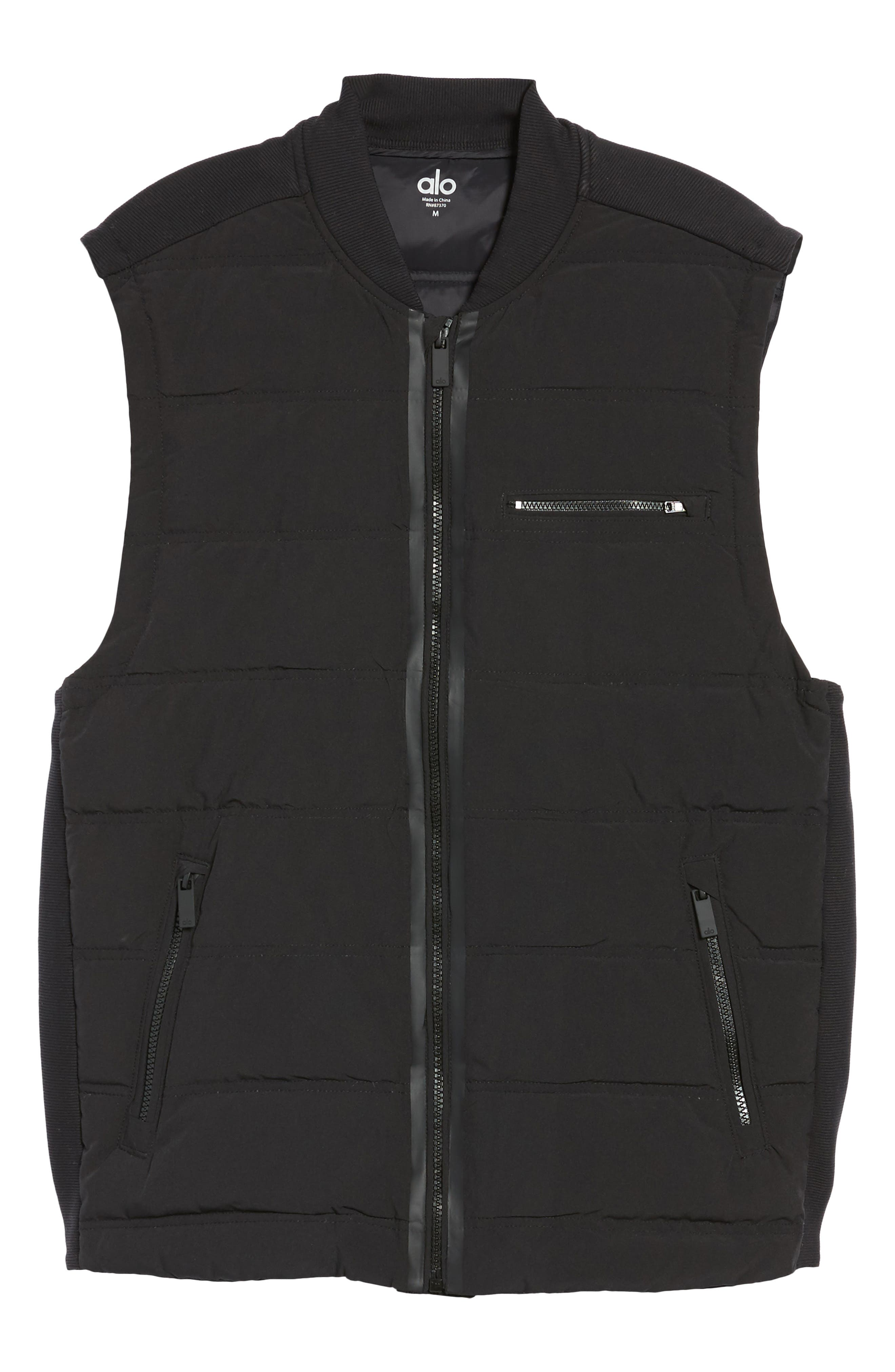 Mantra Relaxed Down Vest,                             Alternate thumbnail 5, color,                             BLACK