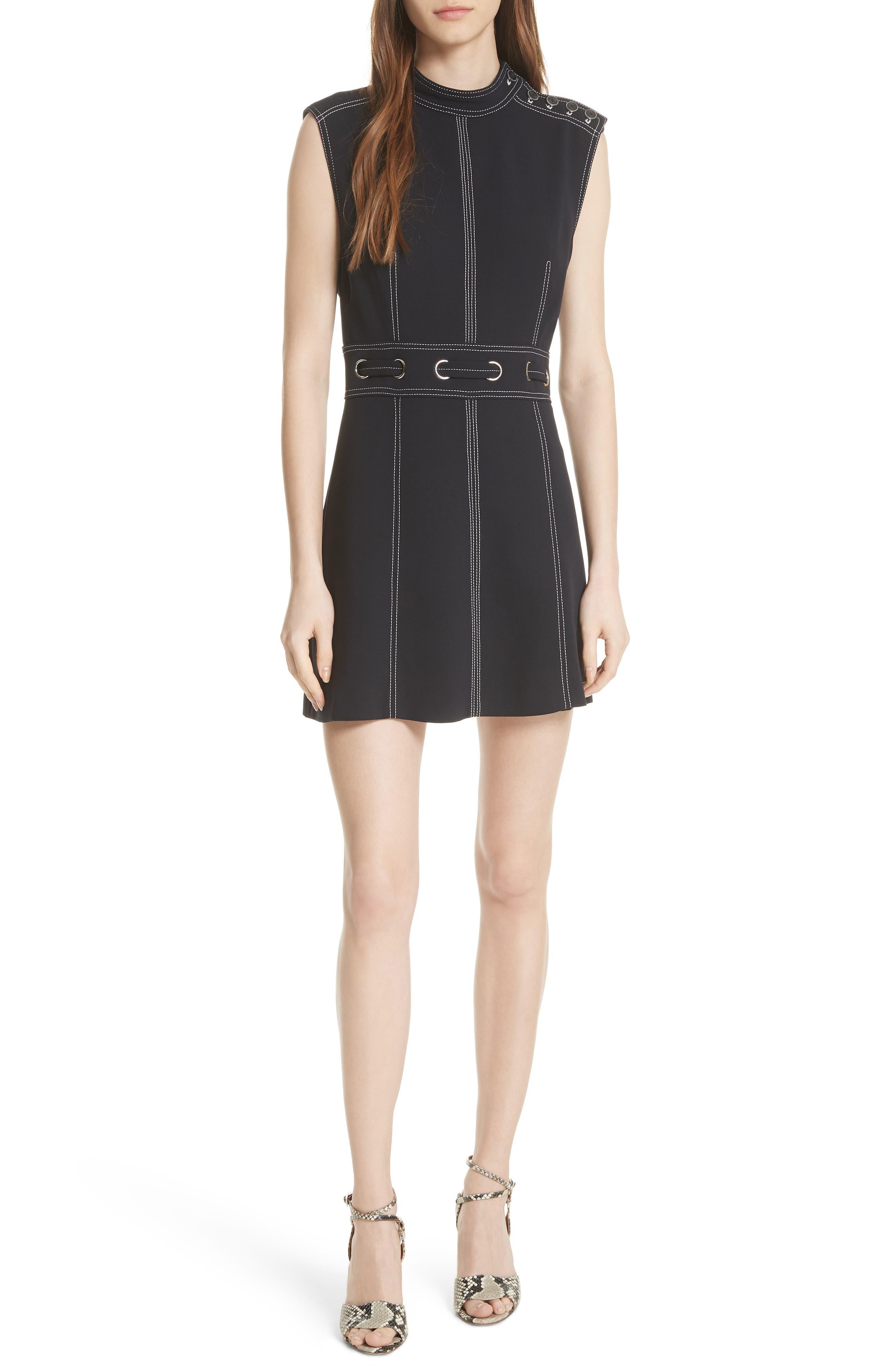 Niko Contrast Stitch Dress,                         Main,                         color, 411