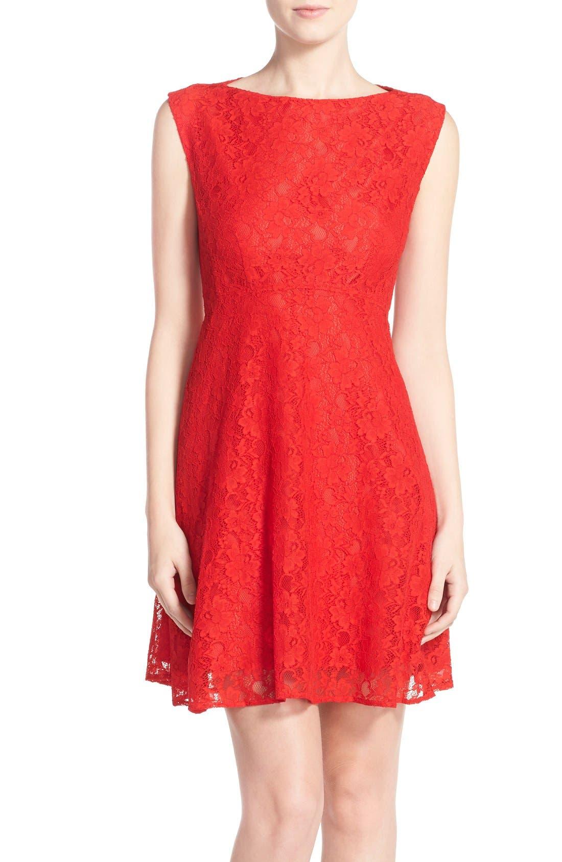 Fit & Flare Dress,                             Main thumbnail 5, color,