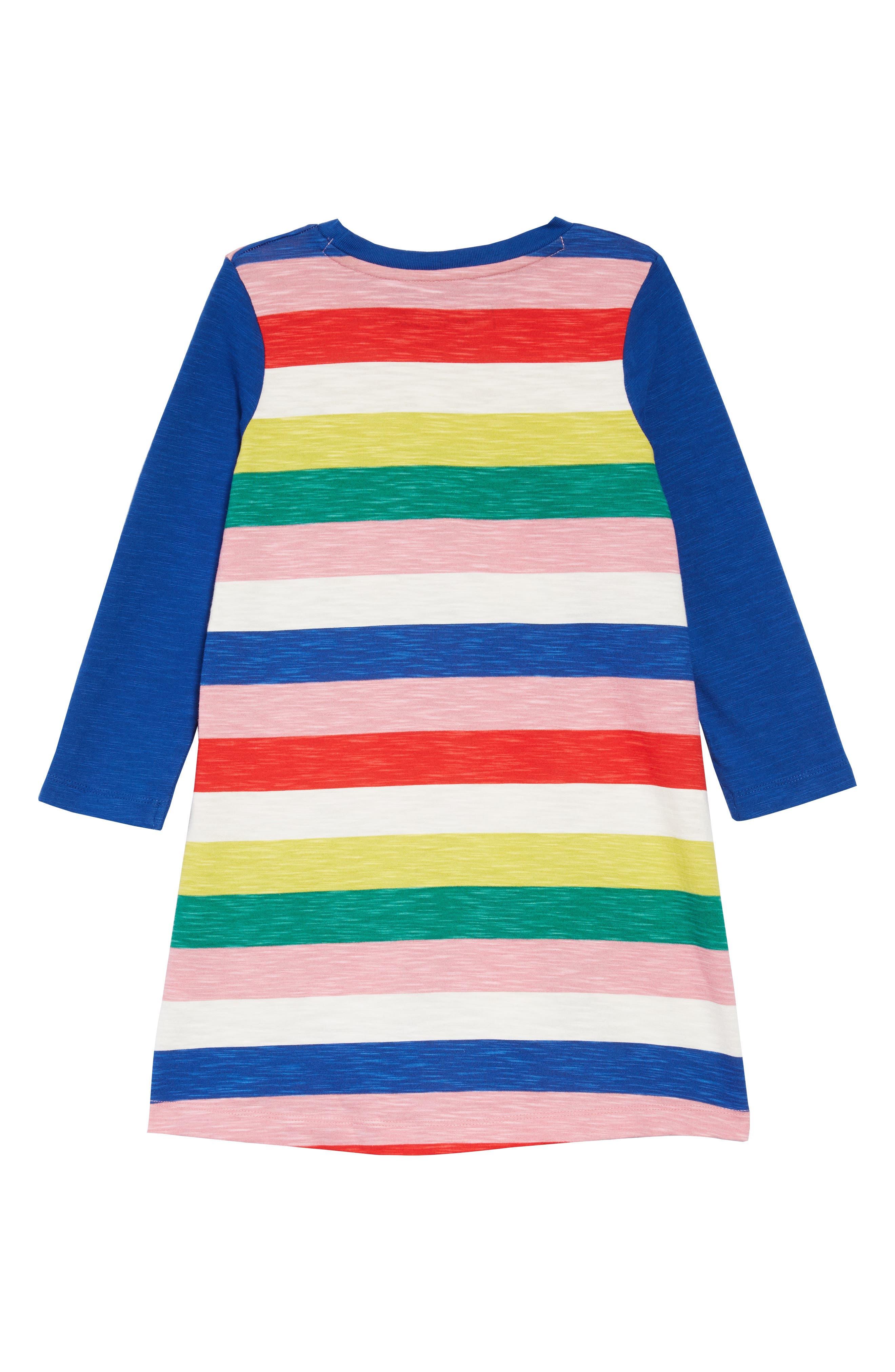 Stripy Jersey Dress,                             Alternate thumbnail 2, color,                             650