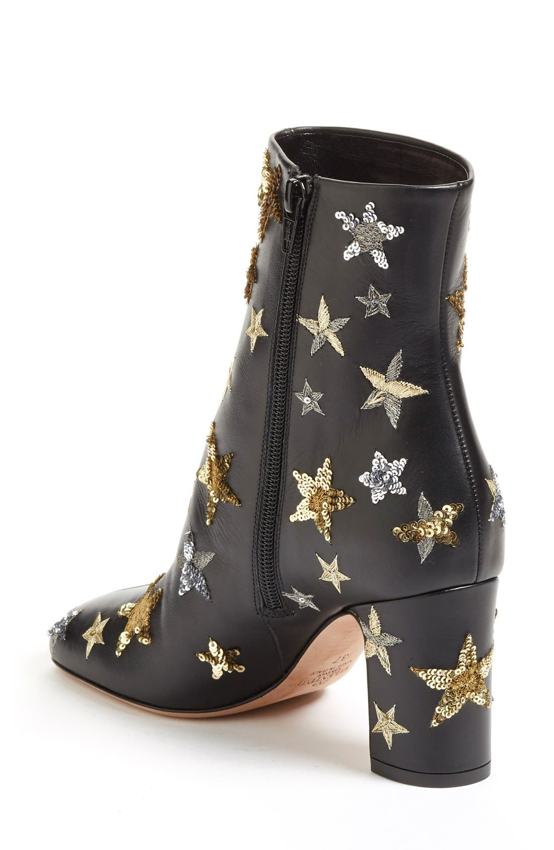VALENTINO,                             'Star Studded' Bootie,                             Alternate thumbnail 3, color,                             002
