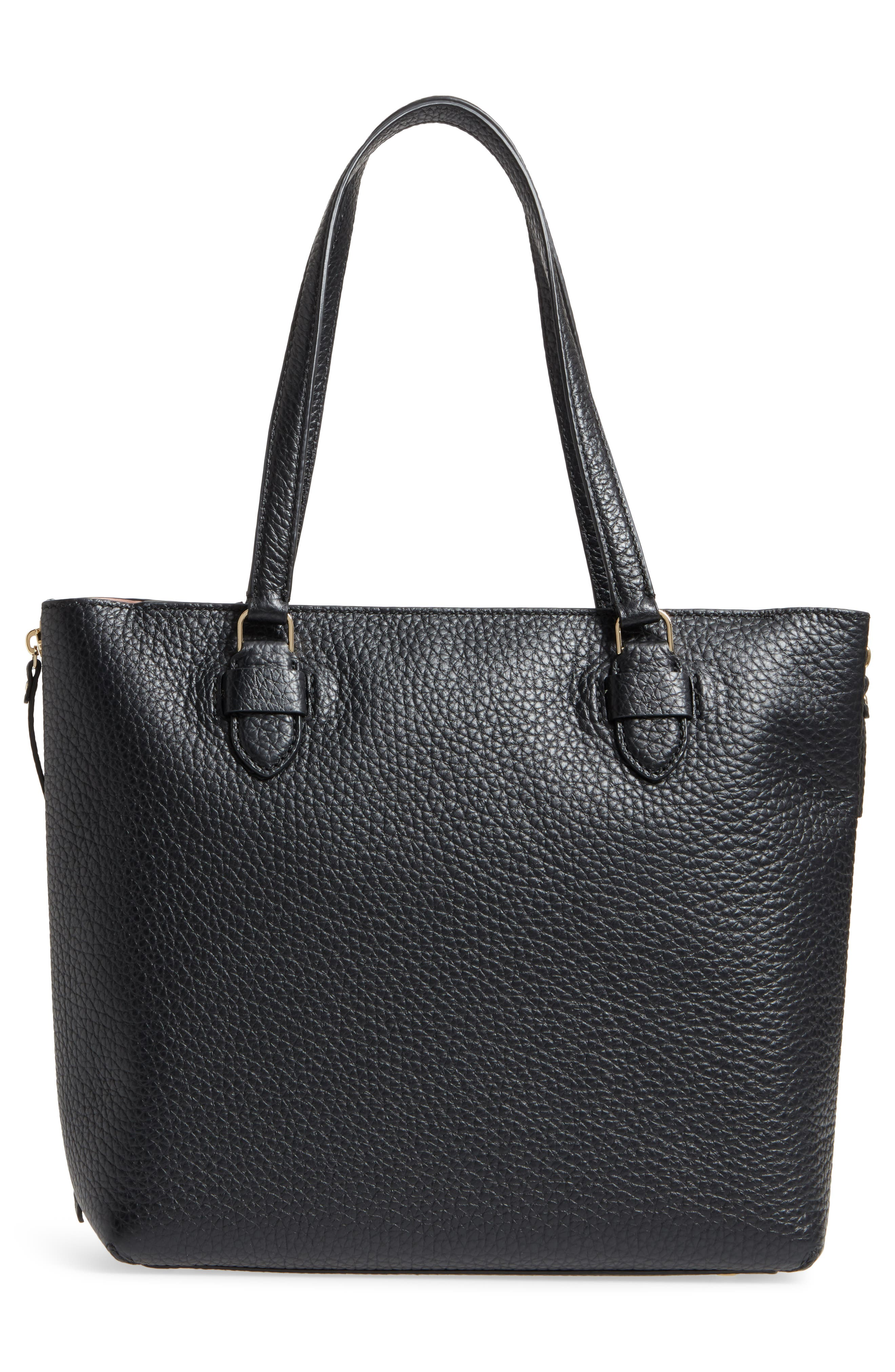 carter street - selena leather tote,                             Alternate thumbnail 5, color,