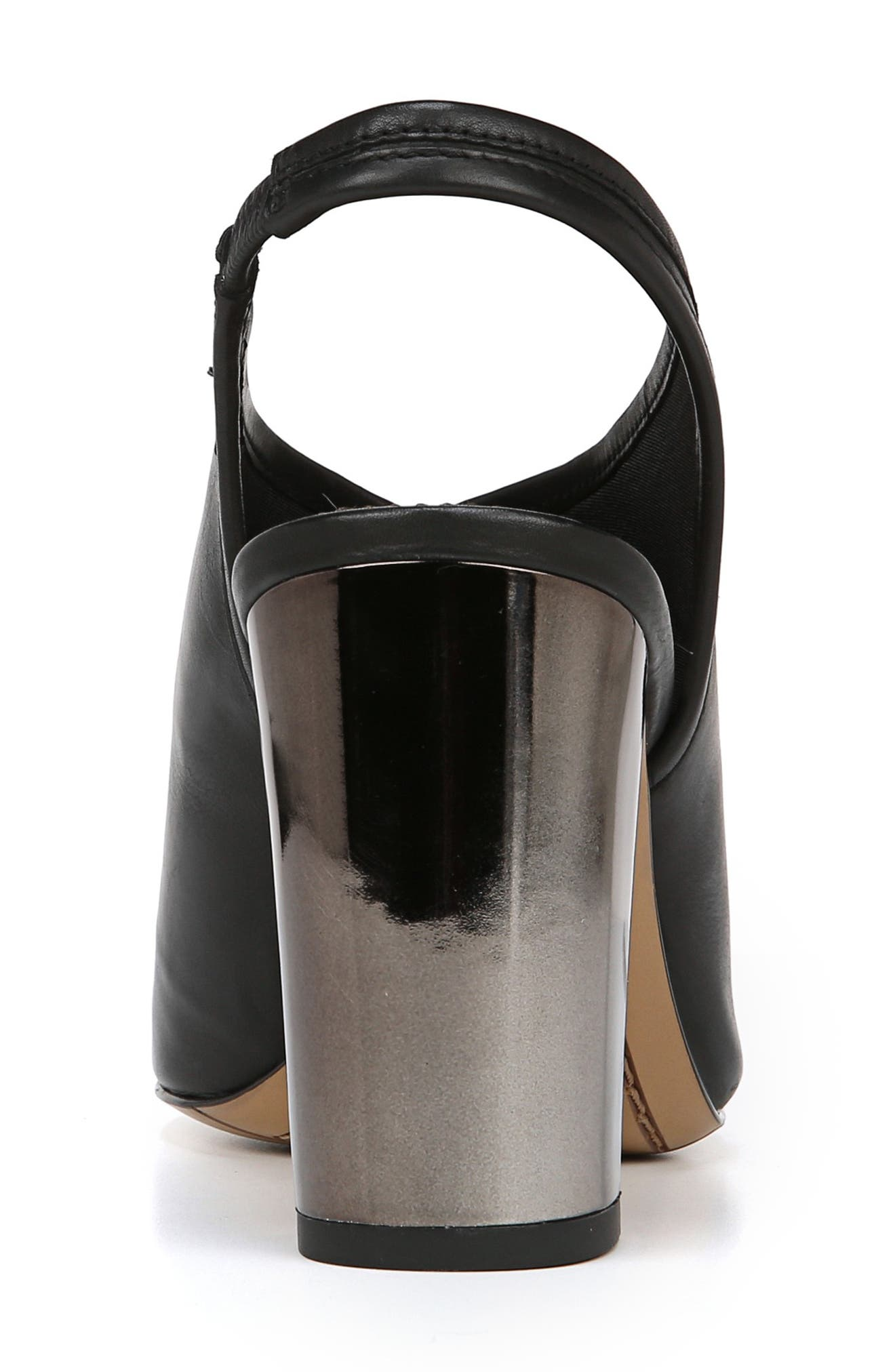 A-Osbourne Slingback Sandal,                             Alternate thumbnail 7, color,                             BLACK FOULARD LEATHER
