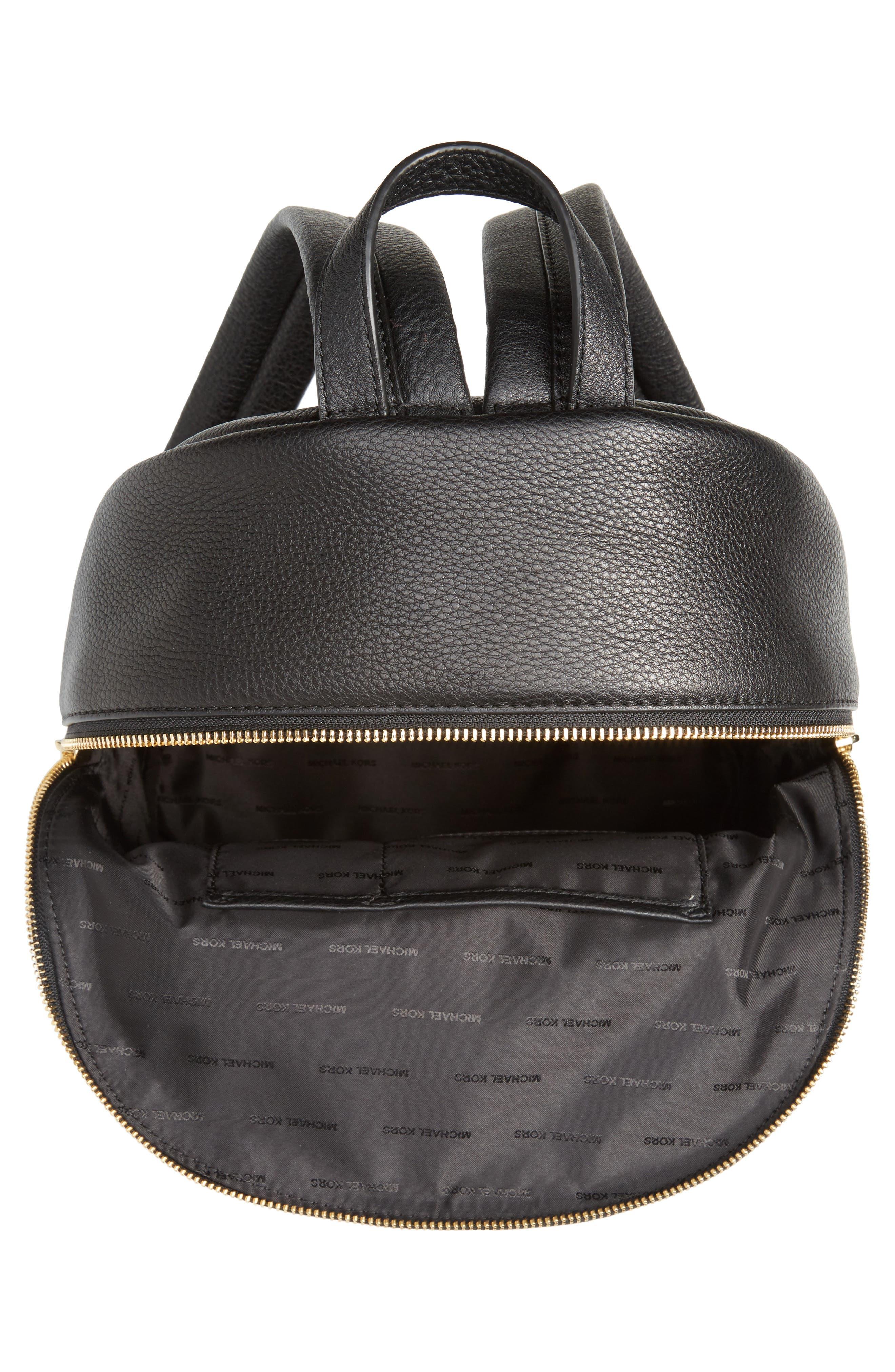 Large Wythe Studded Leather Backpack,                             Alternate thumbnail 4, color,                             001