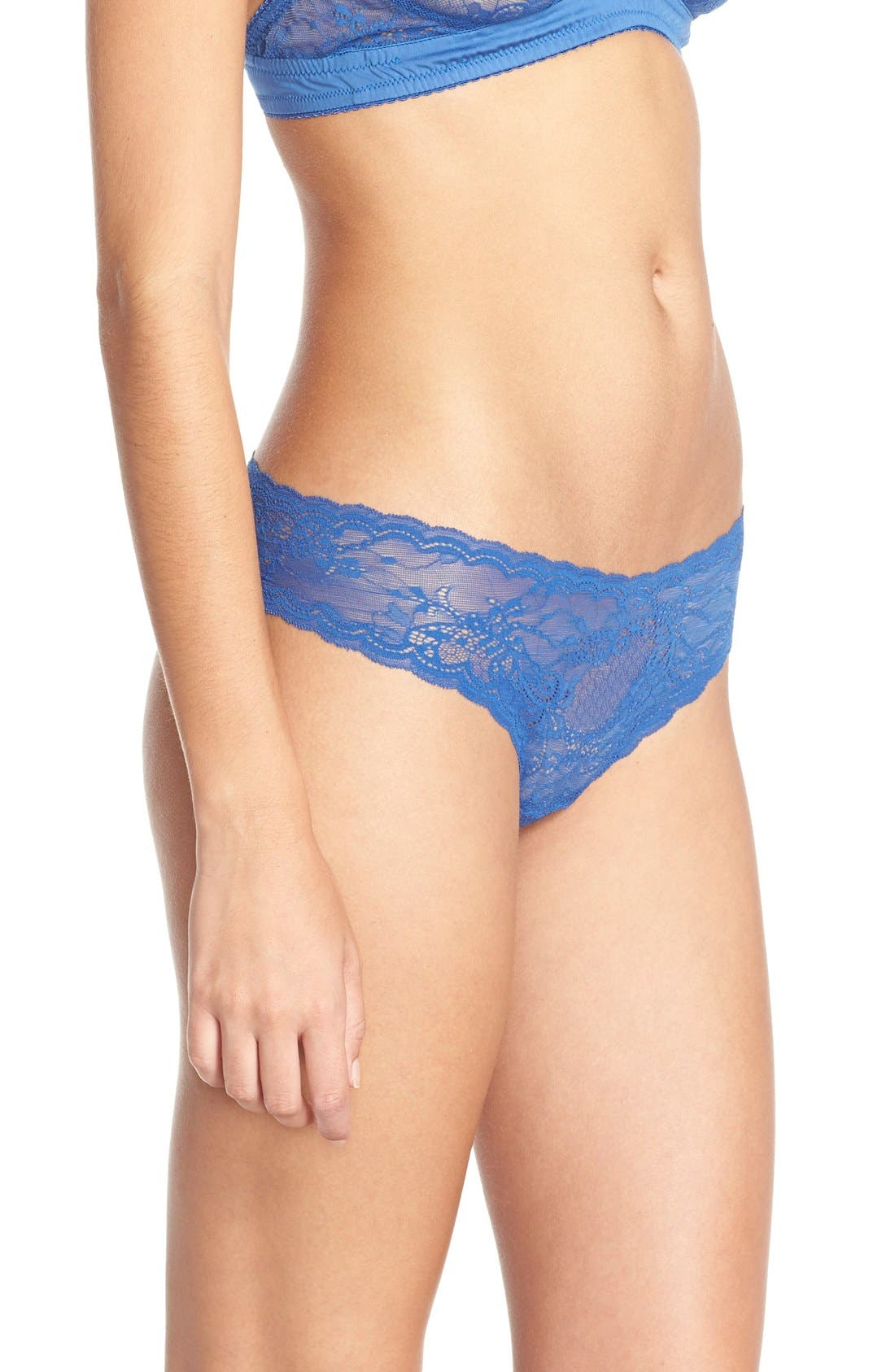 'Trenta' Low Rise Lace Thong,                             Alternate thumbnail 169, color,