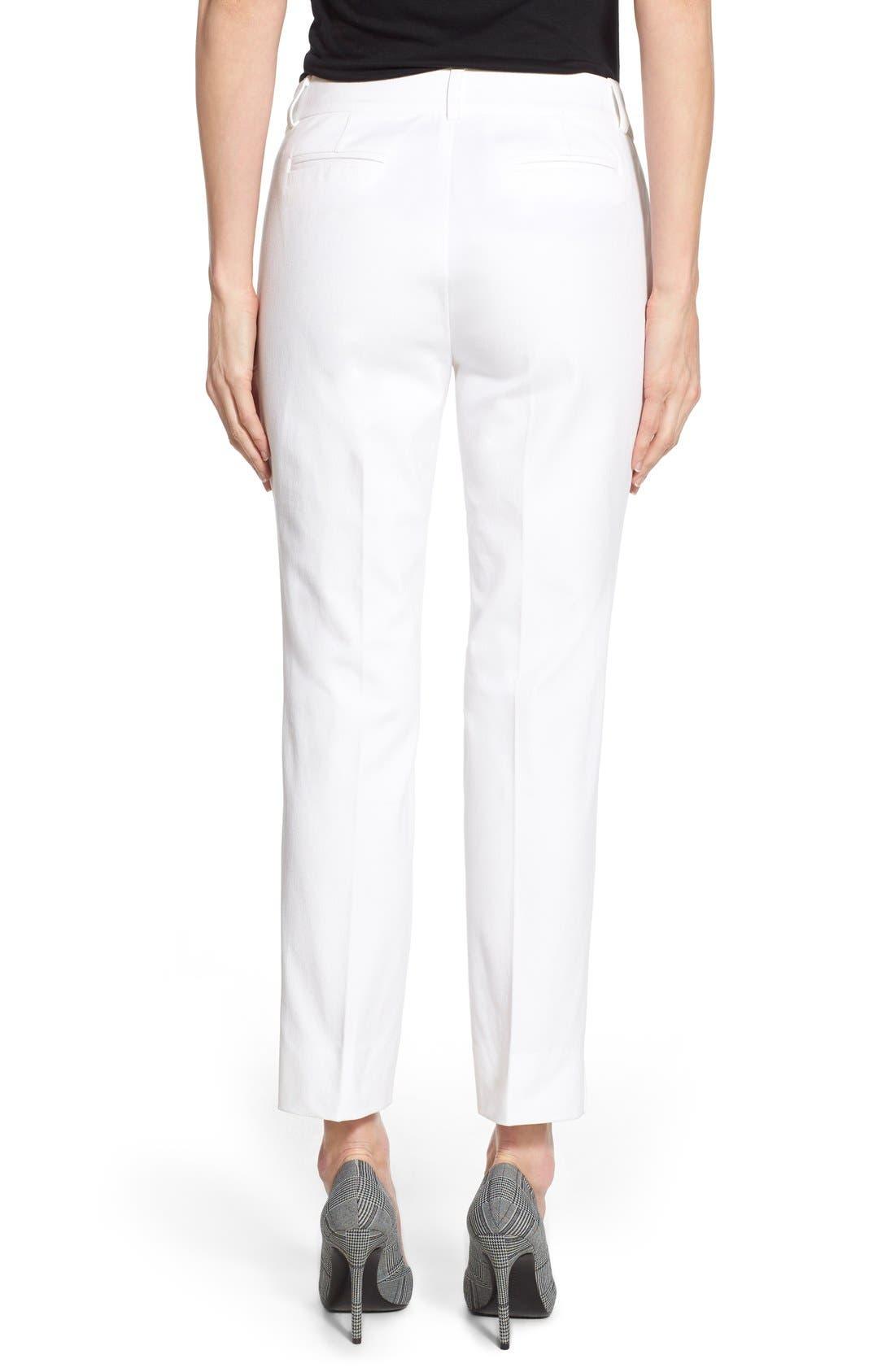 Crop Stretch Cotton Pants,                             Alternate thumbnail 51, color,
