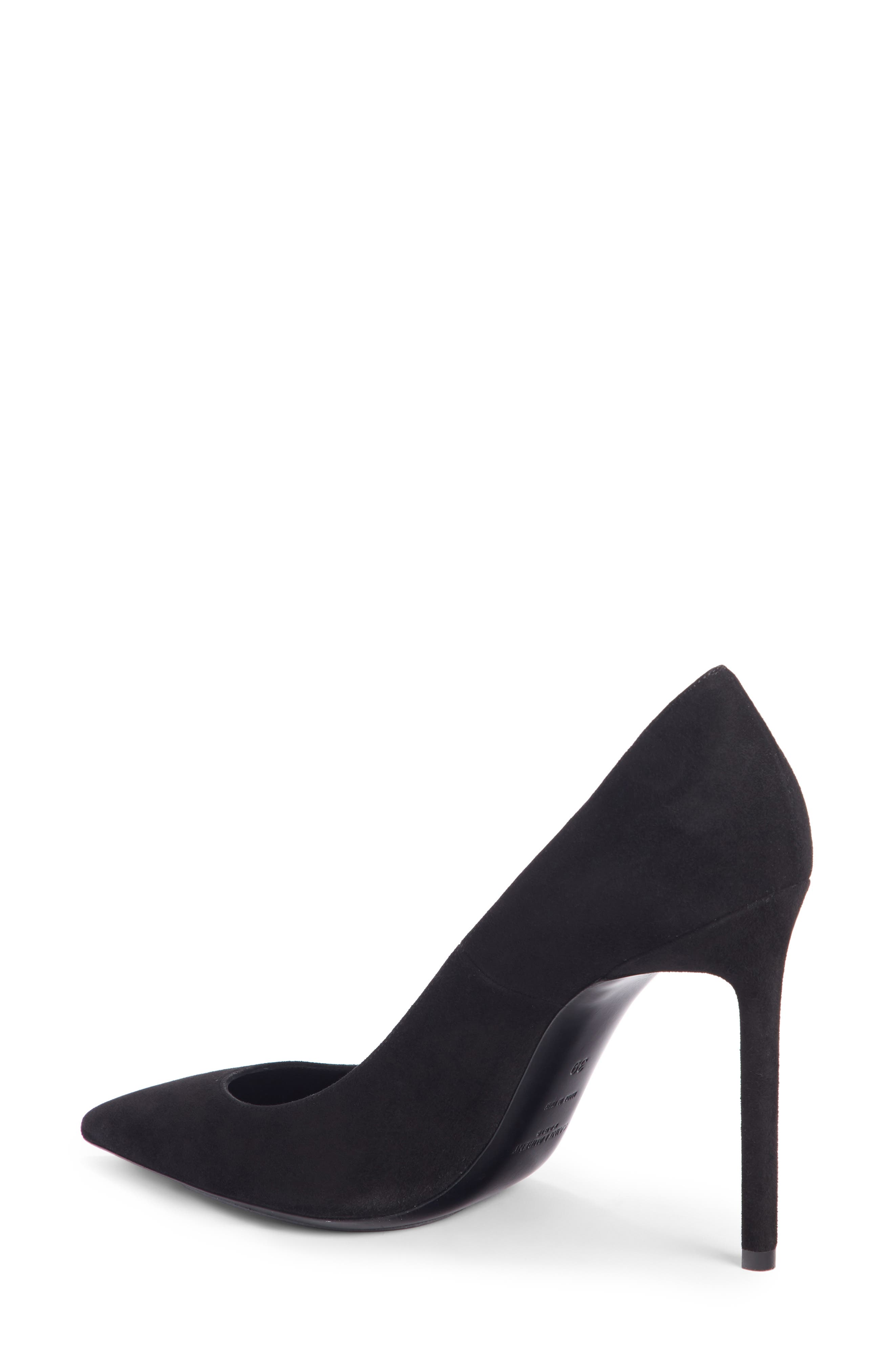 Zoe Pump,                             Alternate thumbnail 2, color,                             BLACK SUEDE