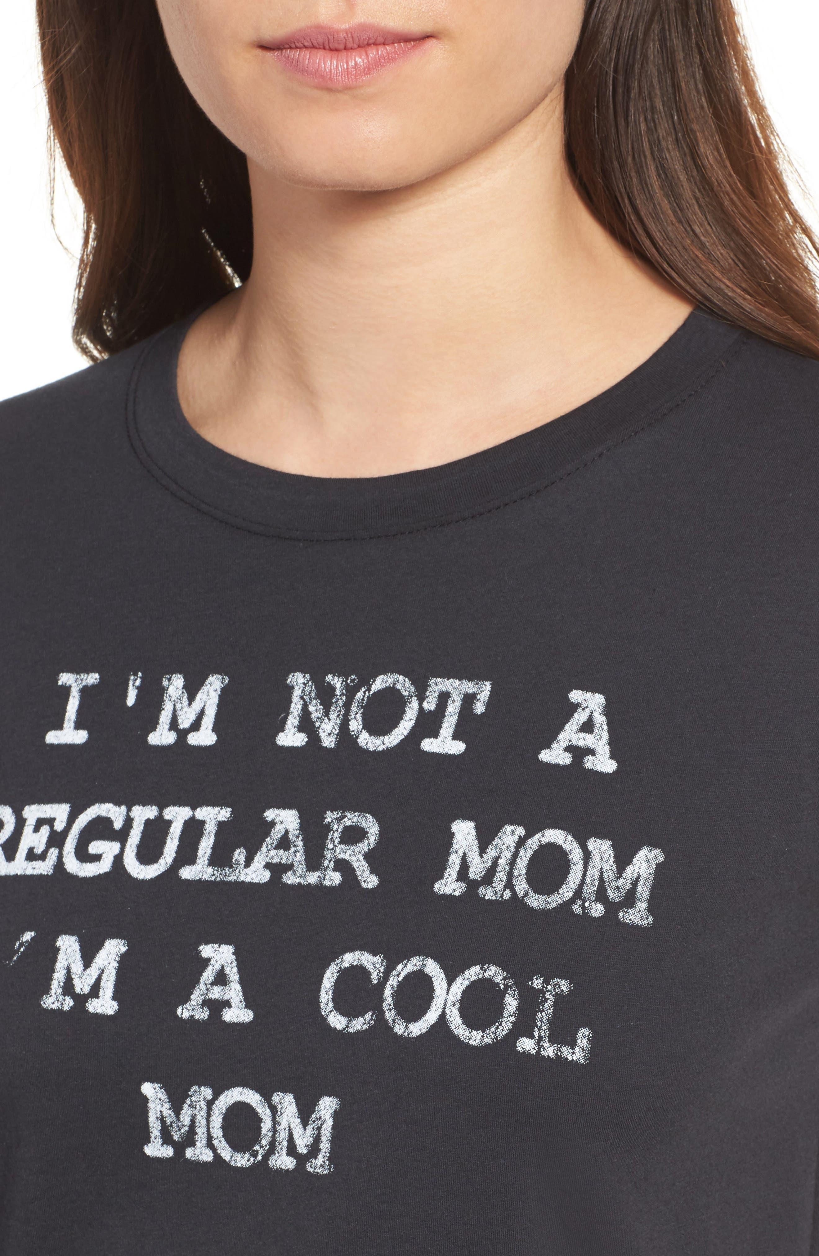 x Mean Girls I'm A Cool Mom Tee,                             Alternate thumbnail 4, color,                             001