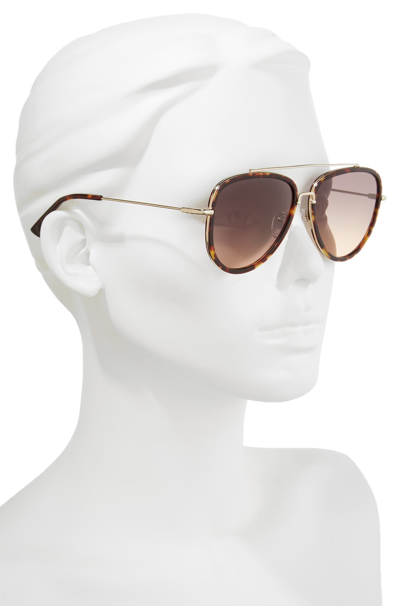 Lincoln 58mm Aviator Sunglasses,                             Alternate thumbnail 6, color,