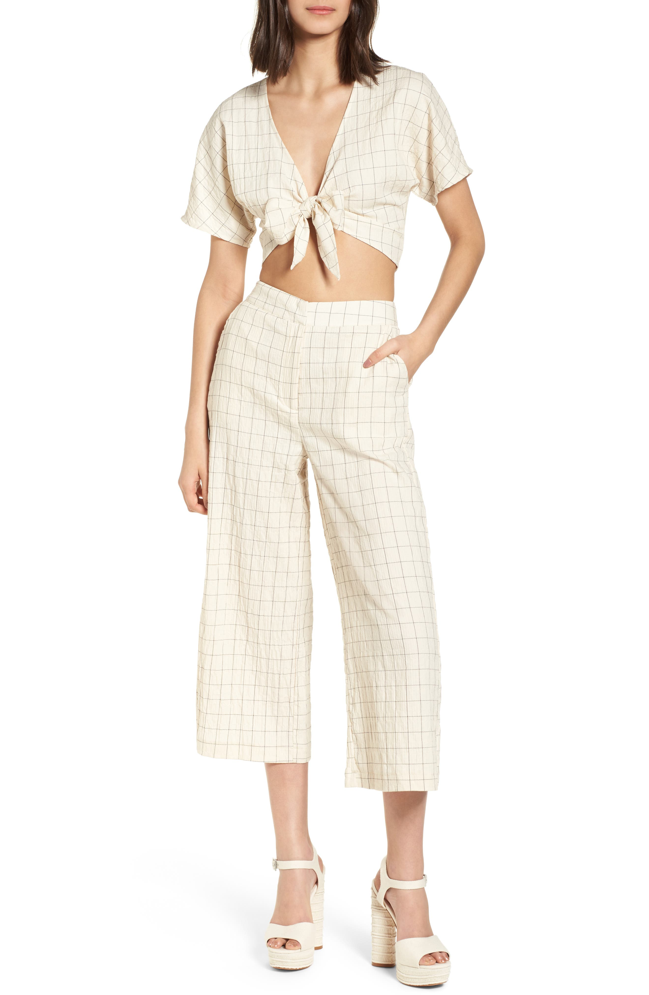 Plaid Culottes,                             Alternate thumbnail 8, color,                             250