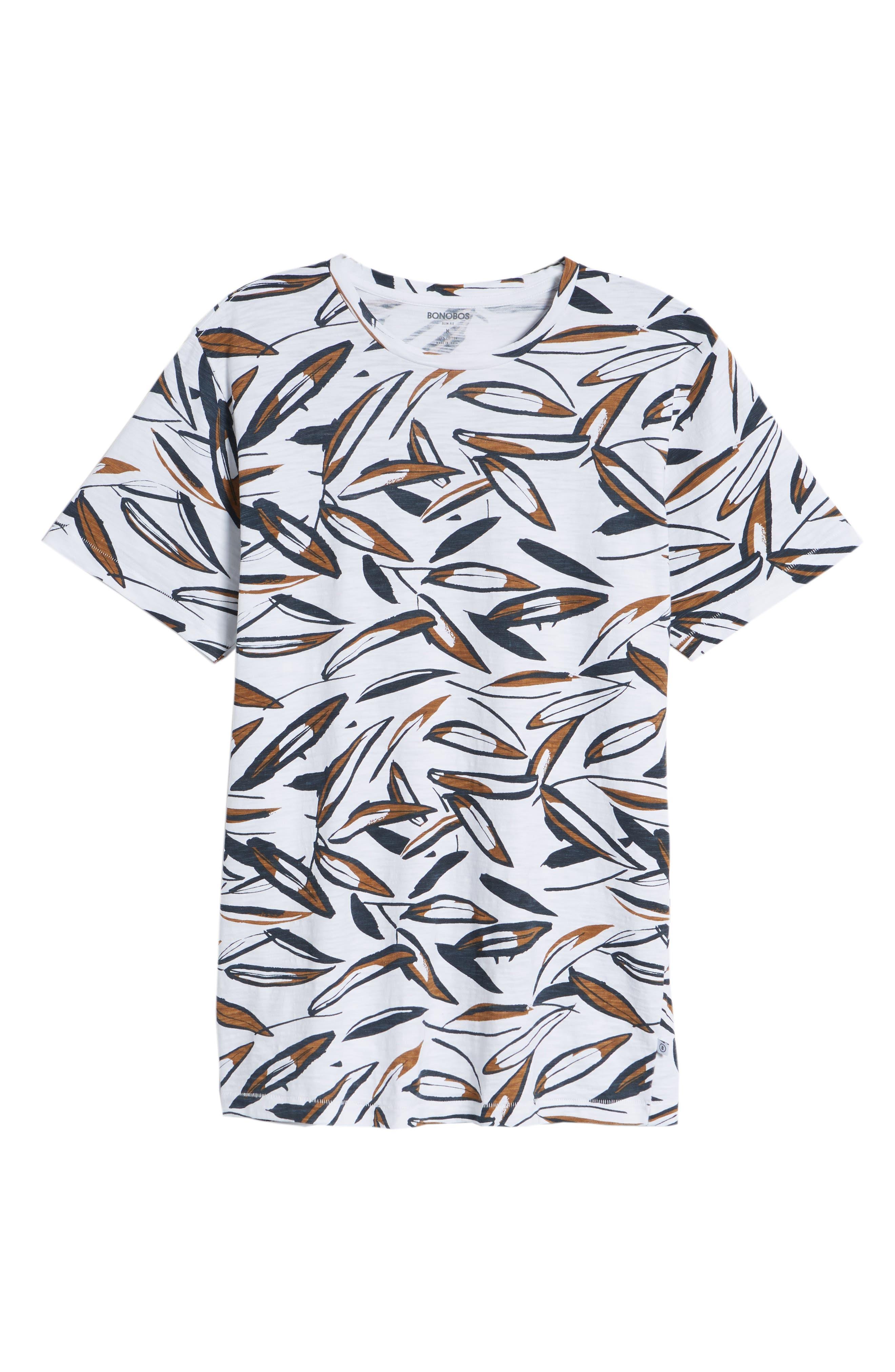 Leafy Arbour Slim Fit Heavyweight T-Shirt,                             Alternate thumbnail 6, color,                             100