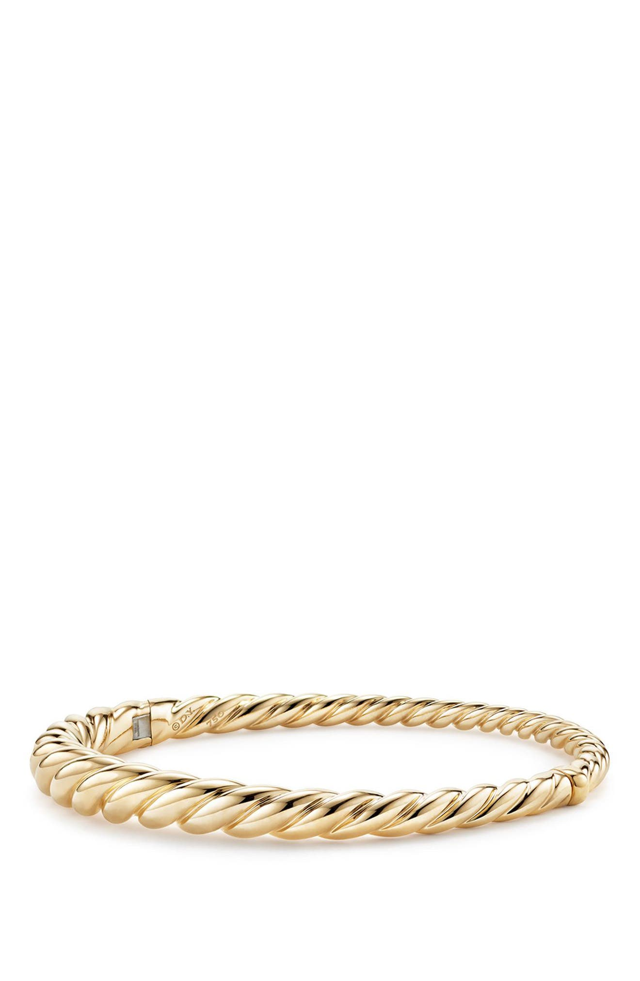 Pure Form Cable Bracelet in 18K Gold, 6mm,                             Main thumbnail 1, color,                             YELLOW GOLD