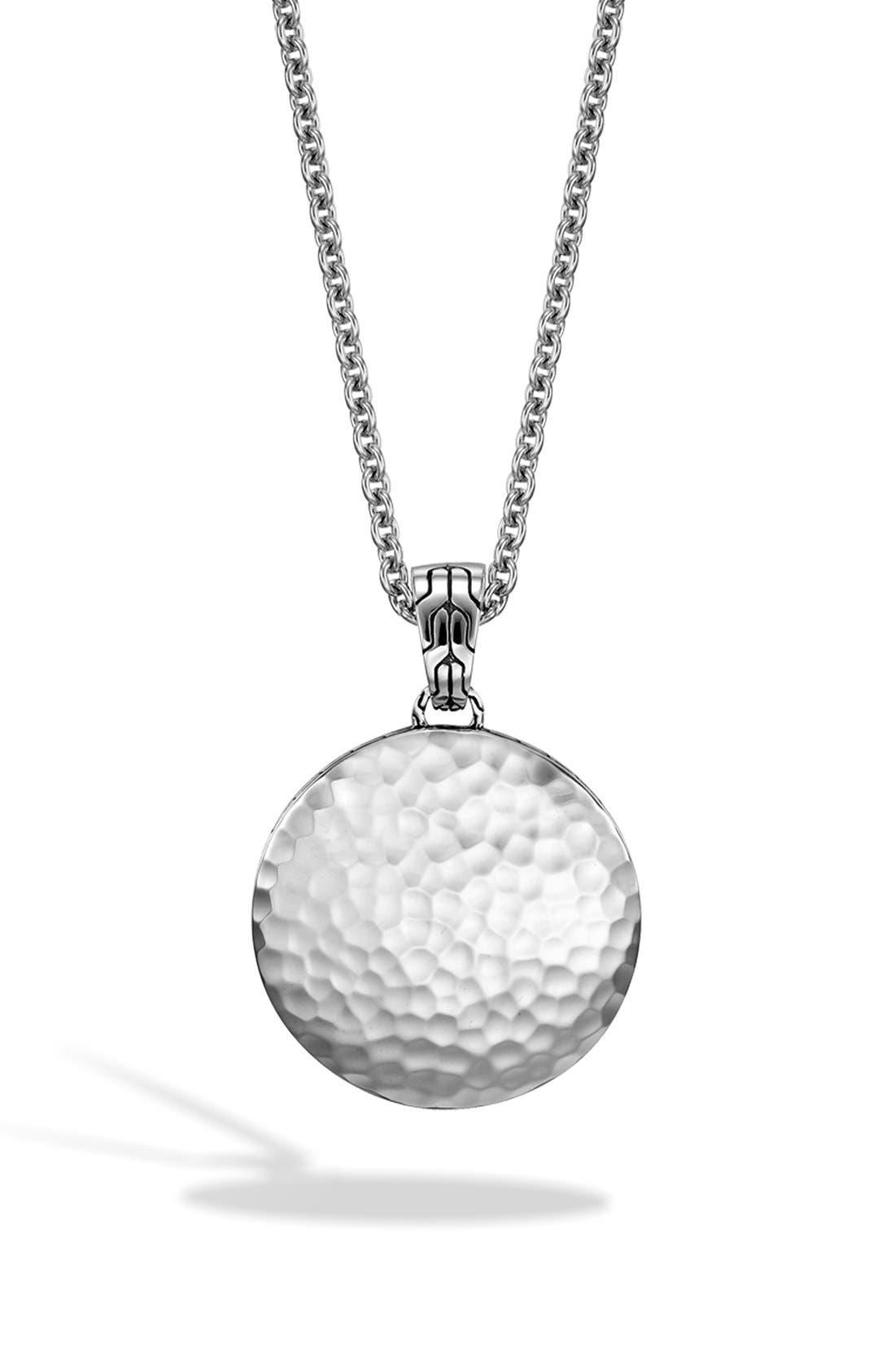 'Dot' Pendant Necklace,                             Alternate thumbnail 2, color,                             SILVER