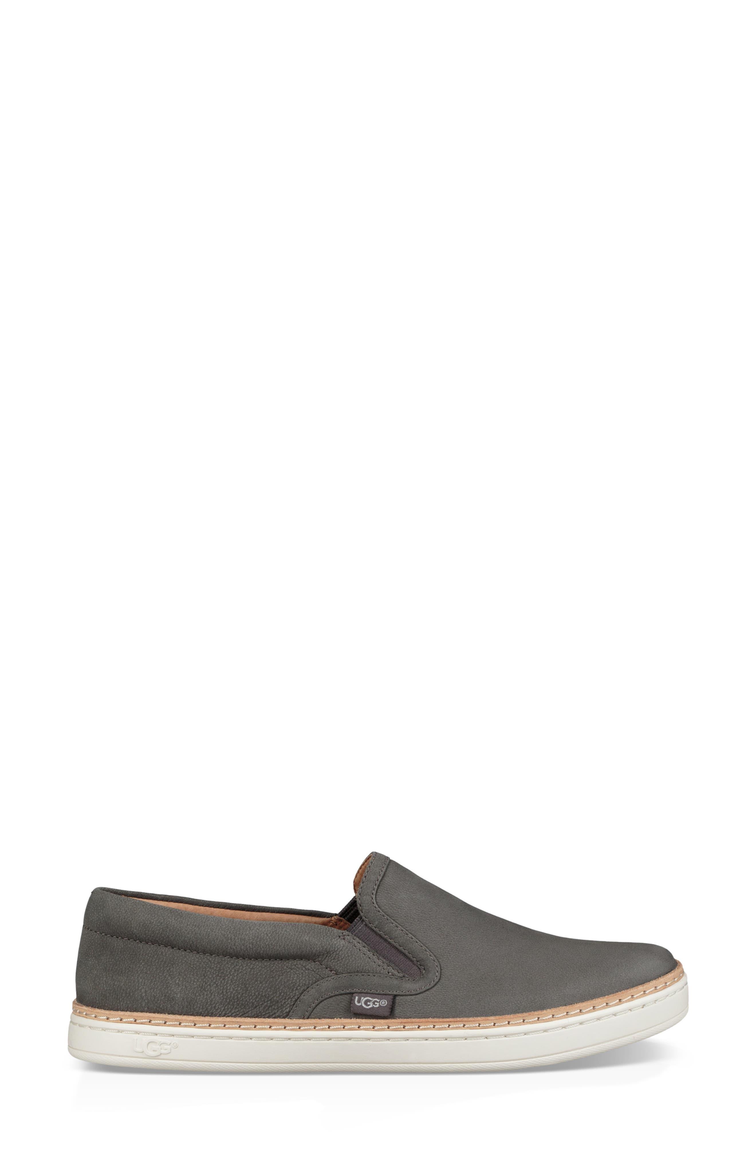 Soleda Slip-On Sneaker,                             Alternate thumbnail 3, color,                             CHARCOAL LEATHER