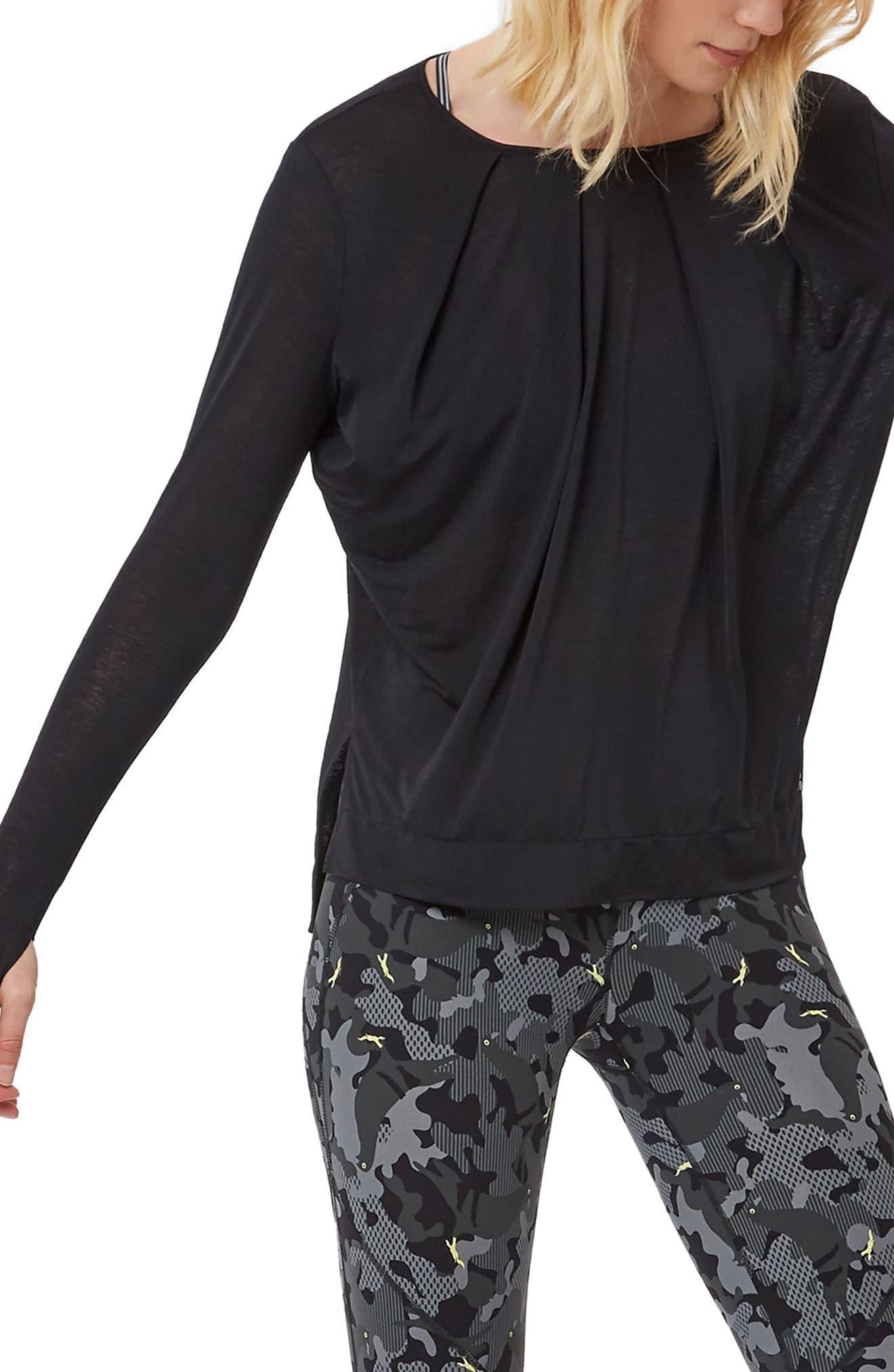 Hinoki Long Sleeve Tee,                             Main thumbnail 1, color,                             BLACK