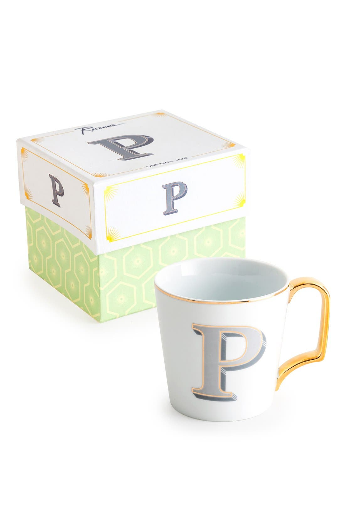 Monogram Porcelain Coffee Mug,                             Main thumbnail 13, color,