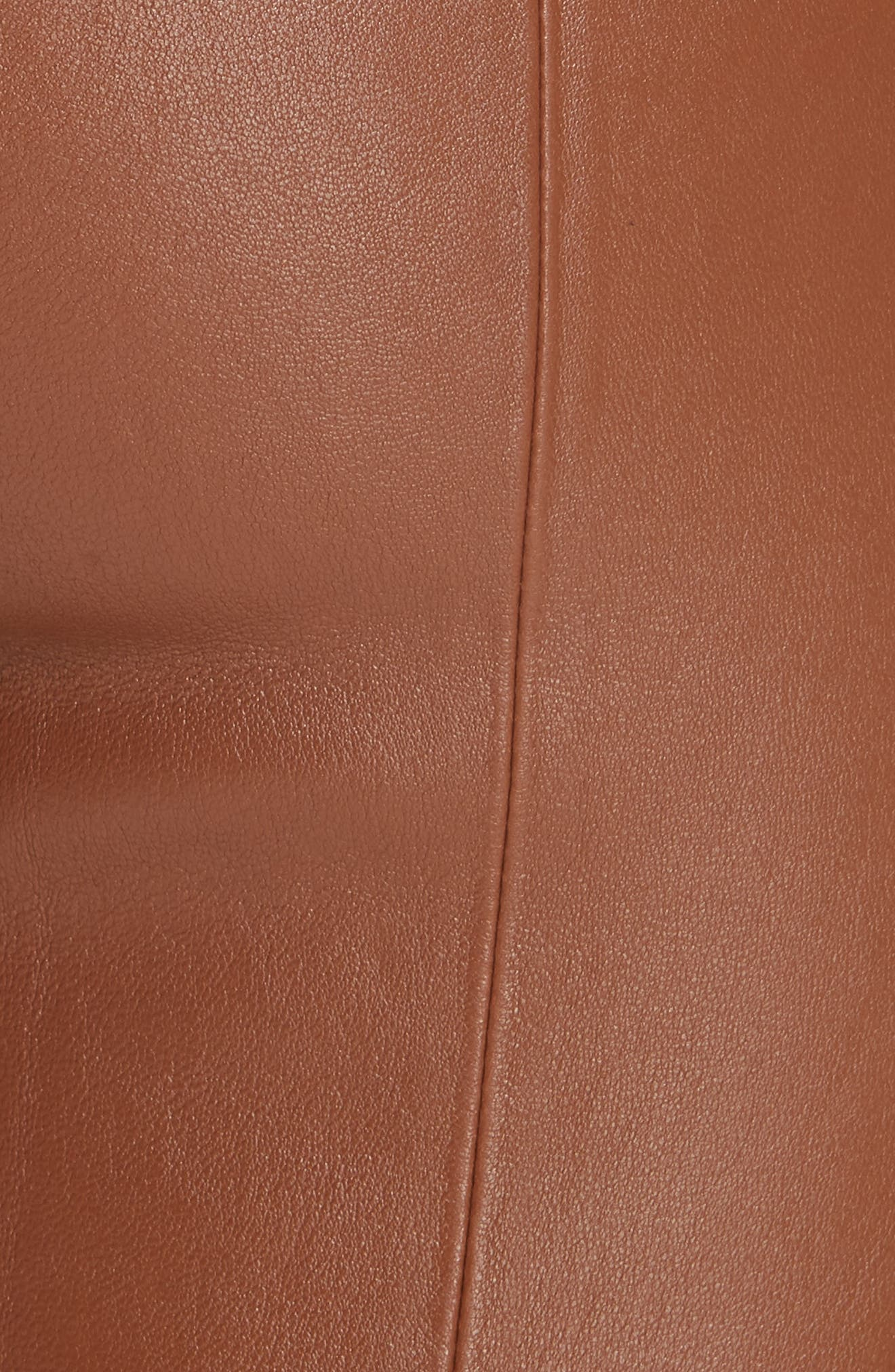 Mercer Nappa Leather Pants,                             Alternate thumbnail 5, color,                             VICUNA