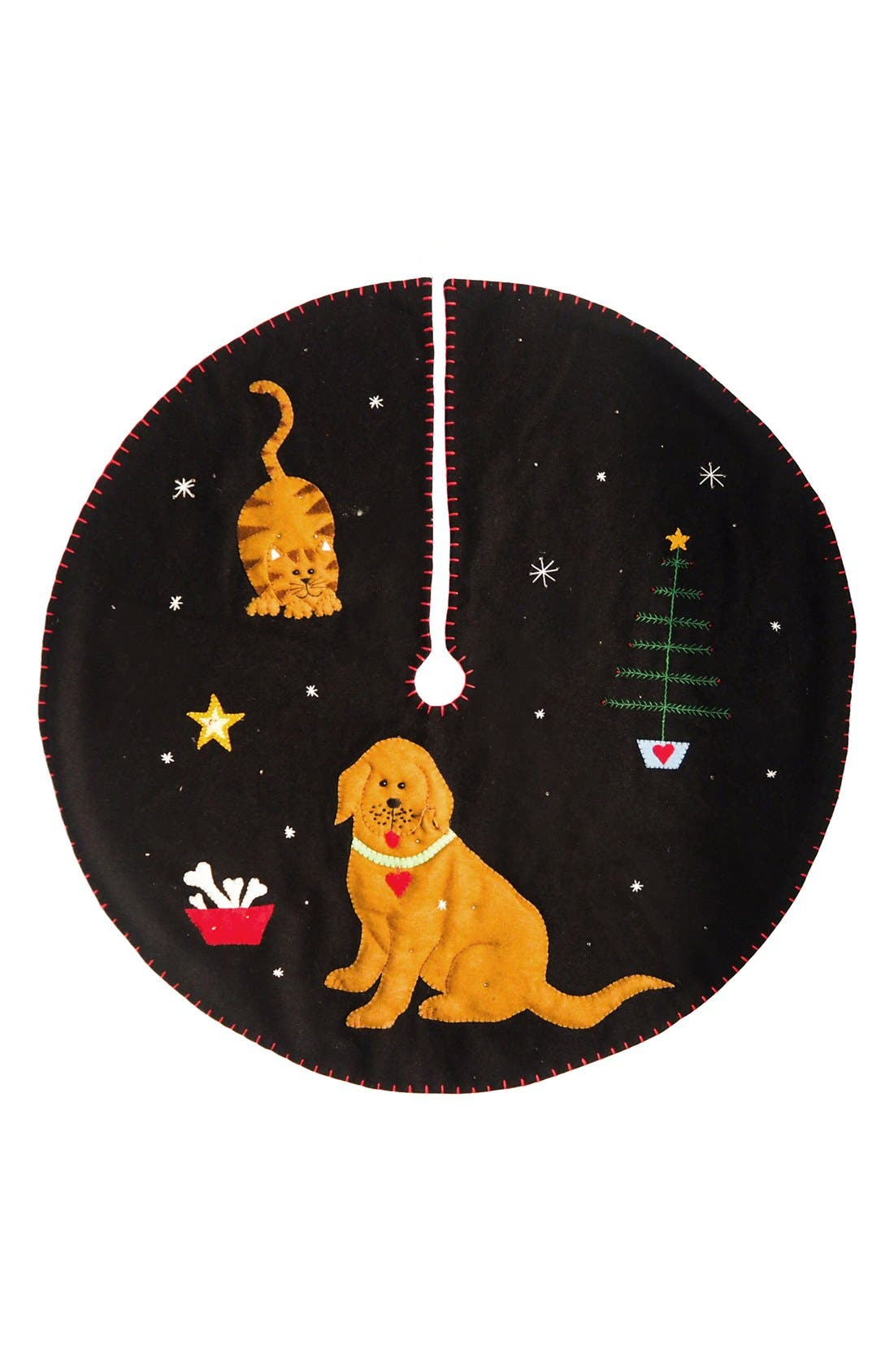 NEW WORLD ARTS,                             Dog & Cat Tree Skirt,                             Main thumbnail 1, color,                             001