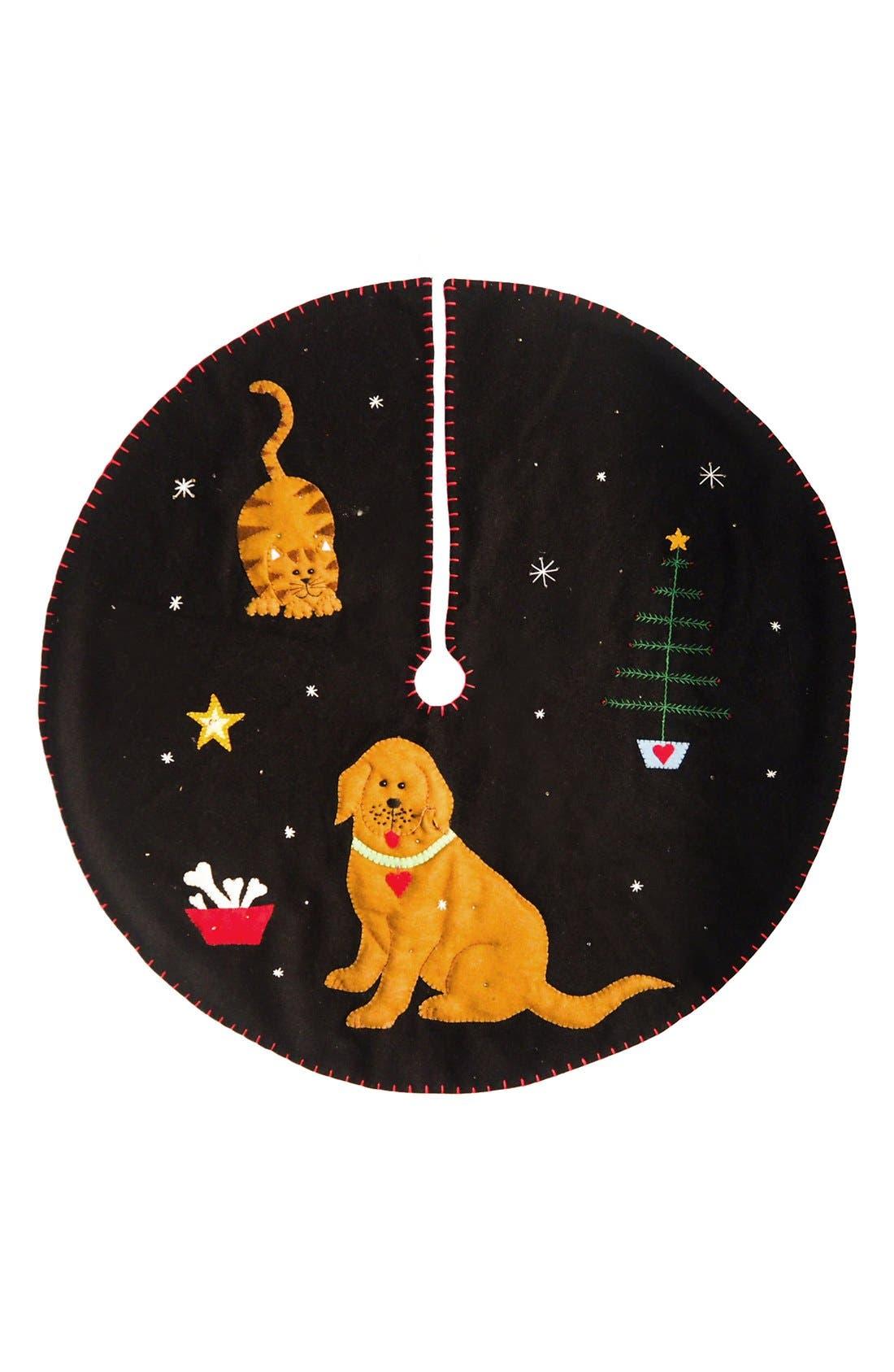 NEW WORLD ARTS Dog & Cat Tree Skirt, Main, color, 001