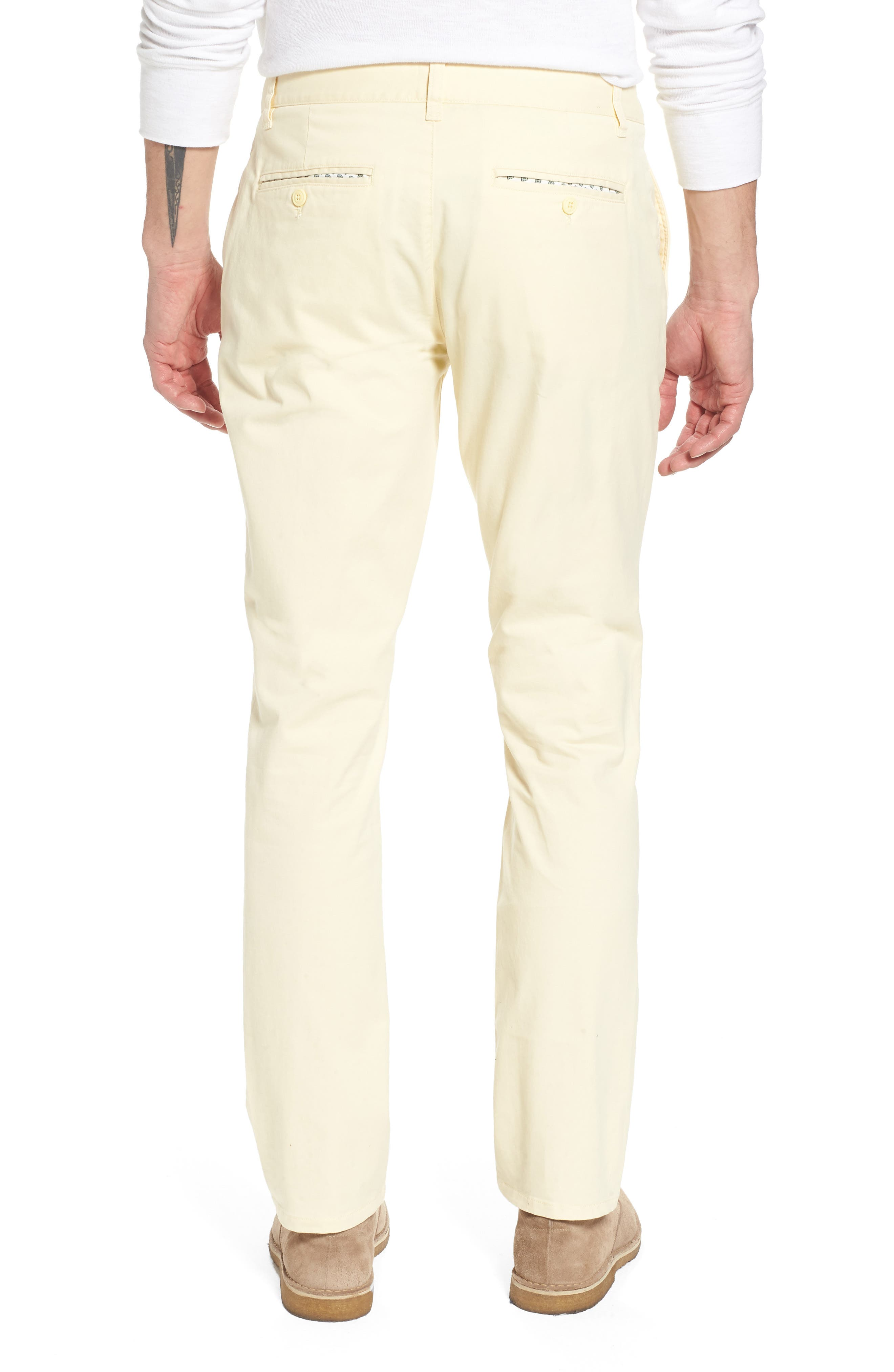 Tailored Fit Washed Stretch Cotton Chinos,                             Alternate thumbnail 55, color,