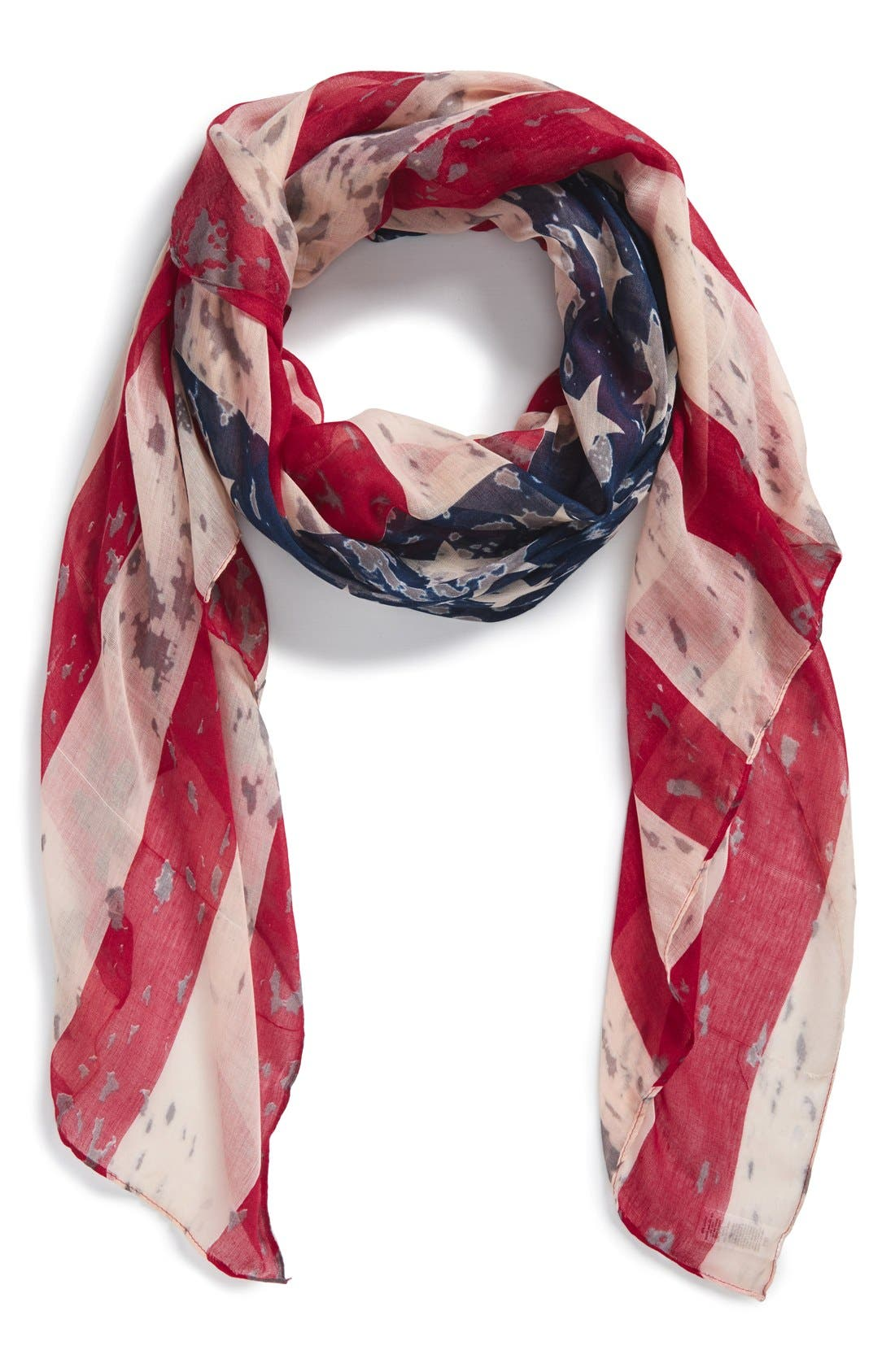 'American Flag' Oblong Scarf, Main, color, 600