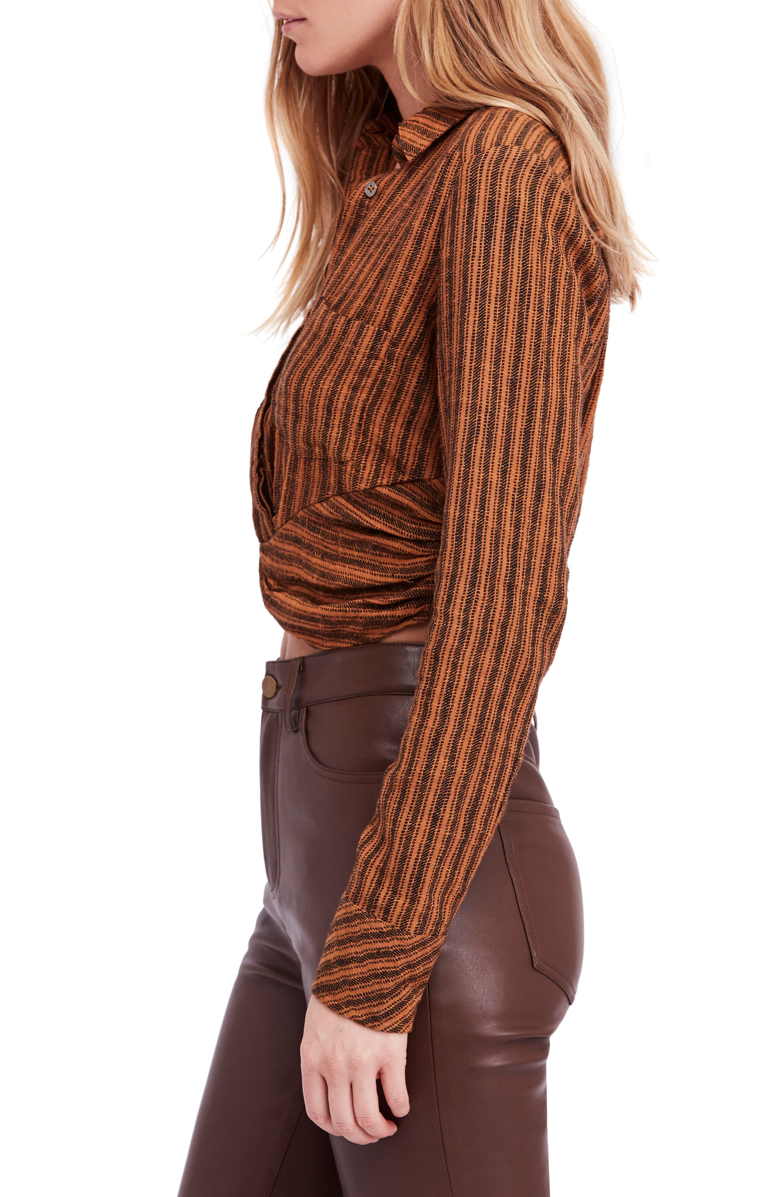 FREE PEOPLE,                             Lust for Life Twist Top,                             Alternate thumbnail 3, color,                             205