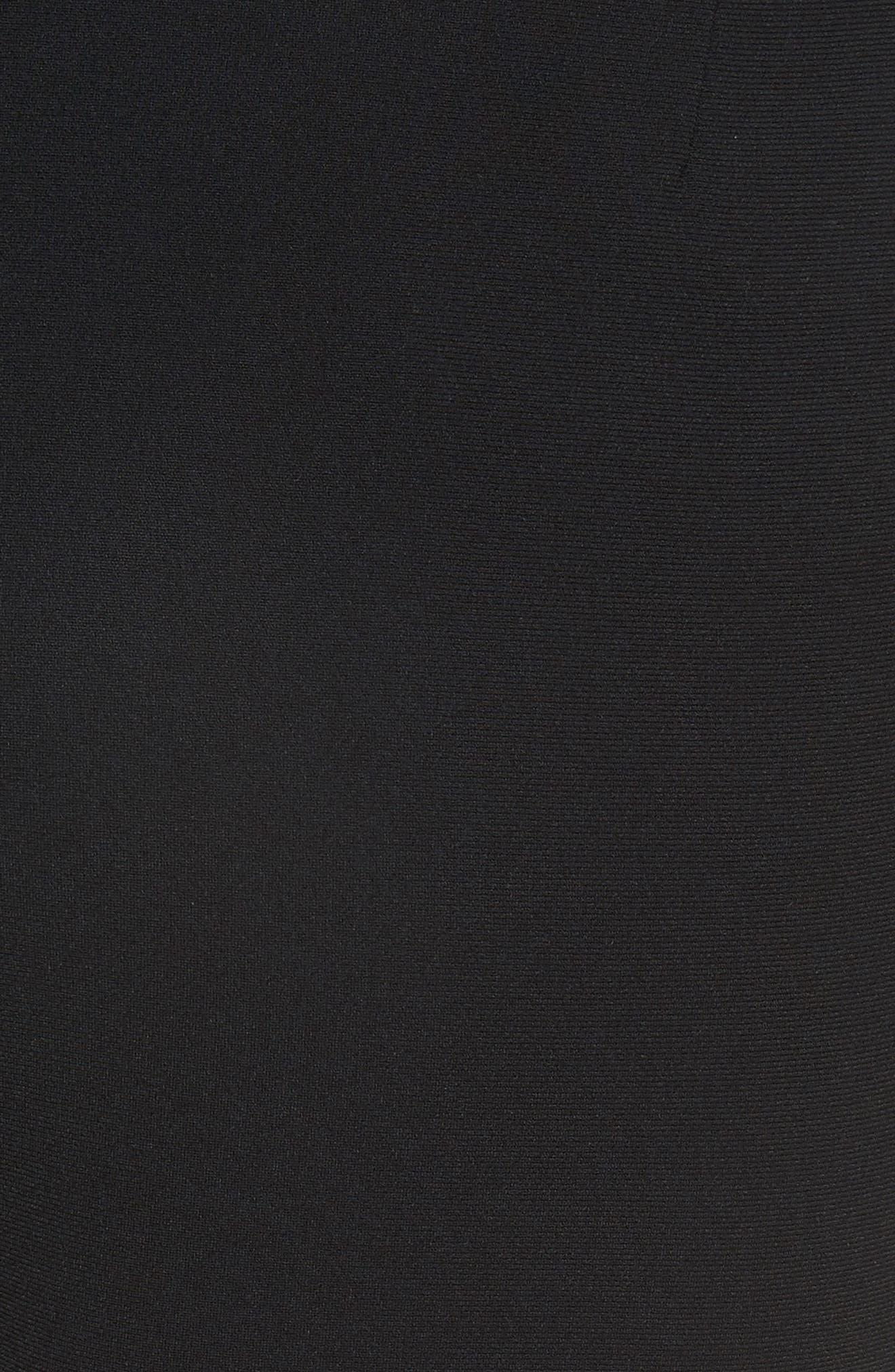 Tristan Button Detail Skinny Pants,                             Alternate thumbnail 5, color,                             BLACK