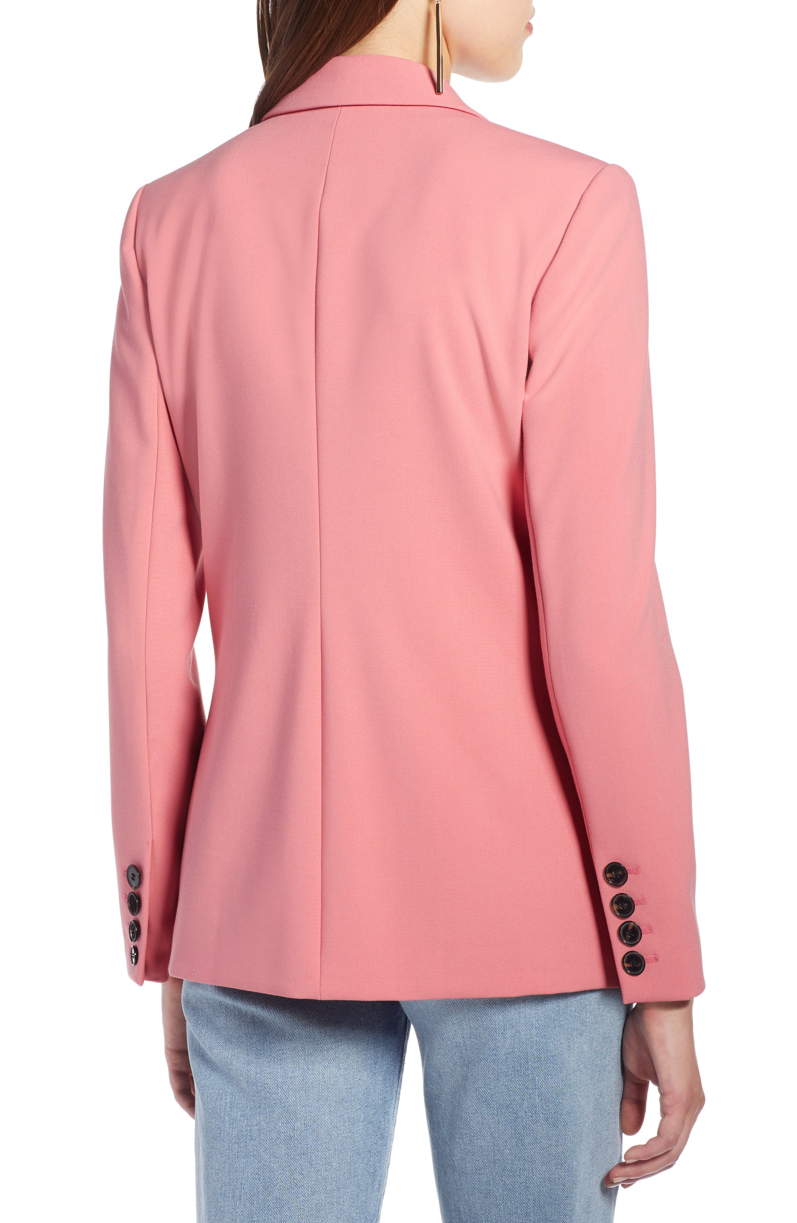 Double Breasted Blazer,                             Alternate thumbnail 2, color,                             CORAL MAUVE