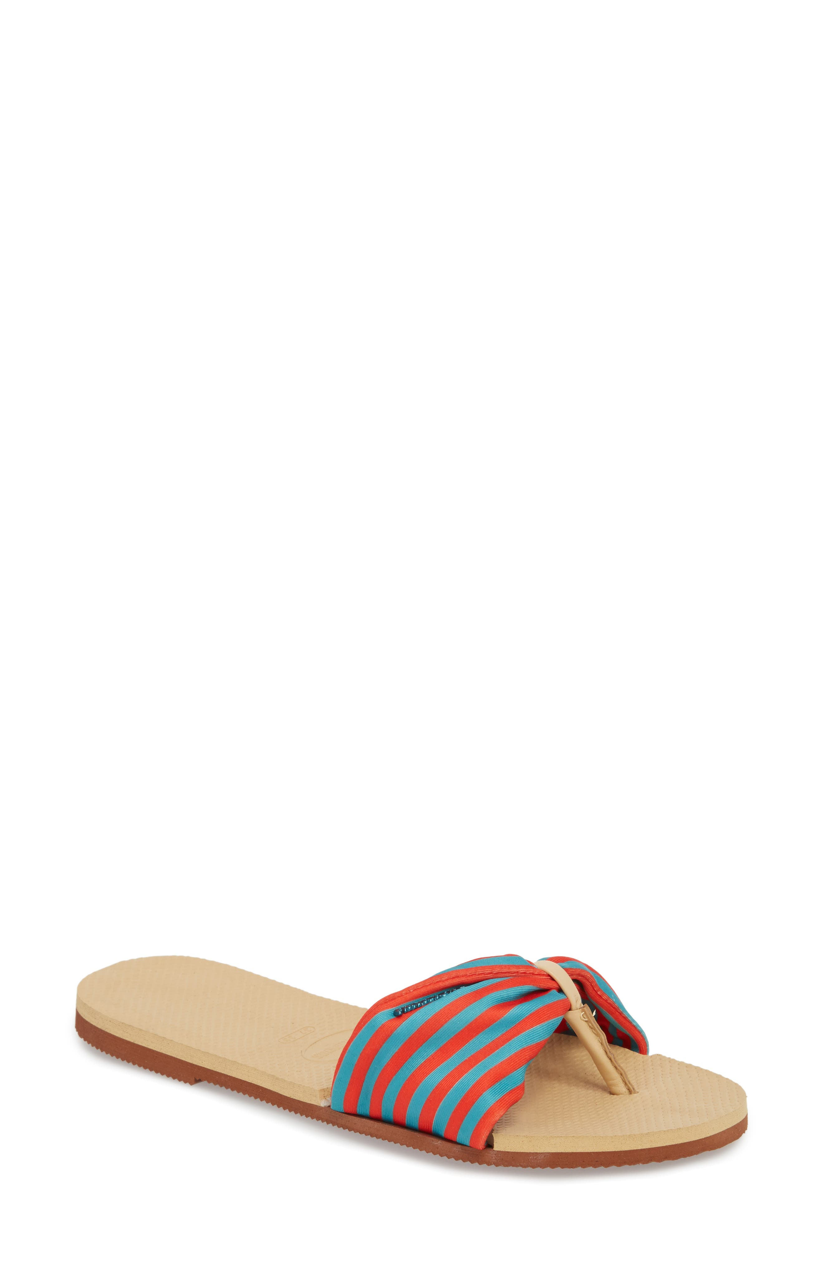 You Saint Tropez Sandal,                         Main,                         color, IVORY