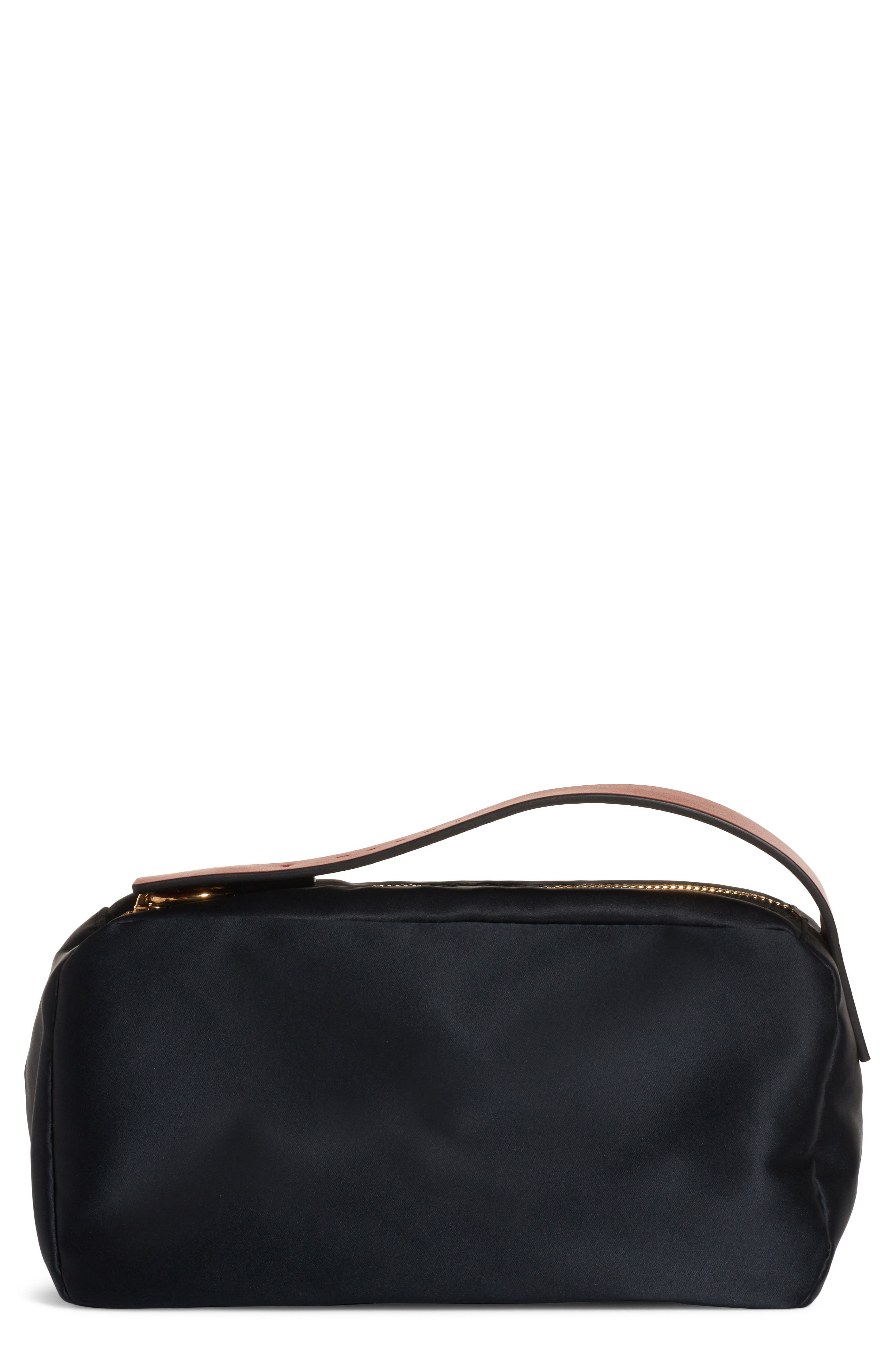 Law Bag Nylon Cosmetics Case in Black