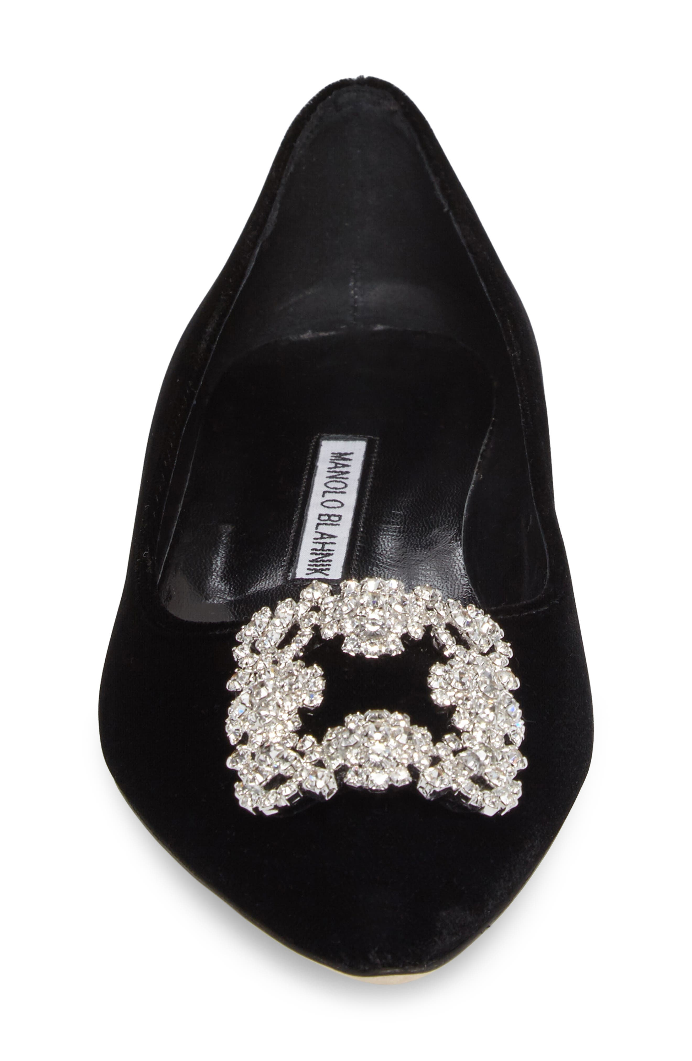 Hangisi Pointy Toe Flat,                             Alternate thumbnail 4, color,                             001