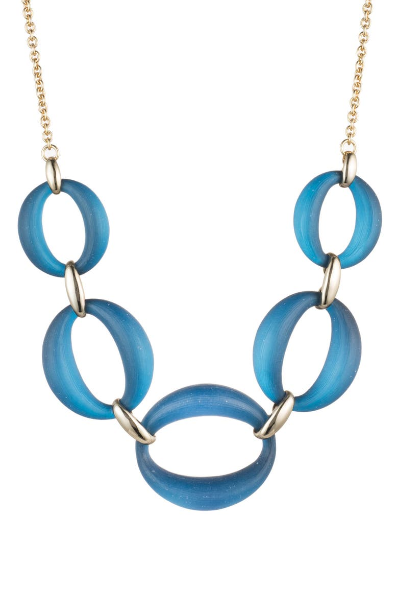 Alexis Bittar LARGE LUCITE LINK FRONTAL NECKLACE
