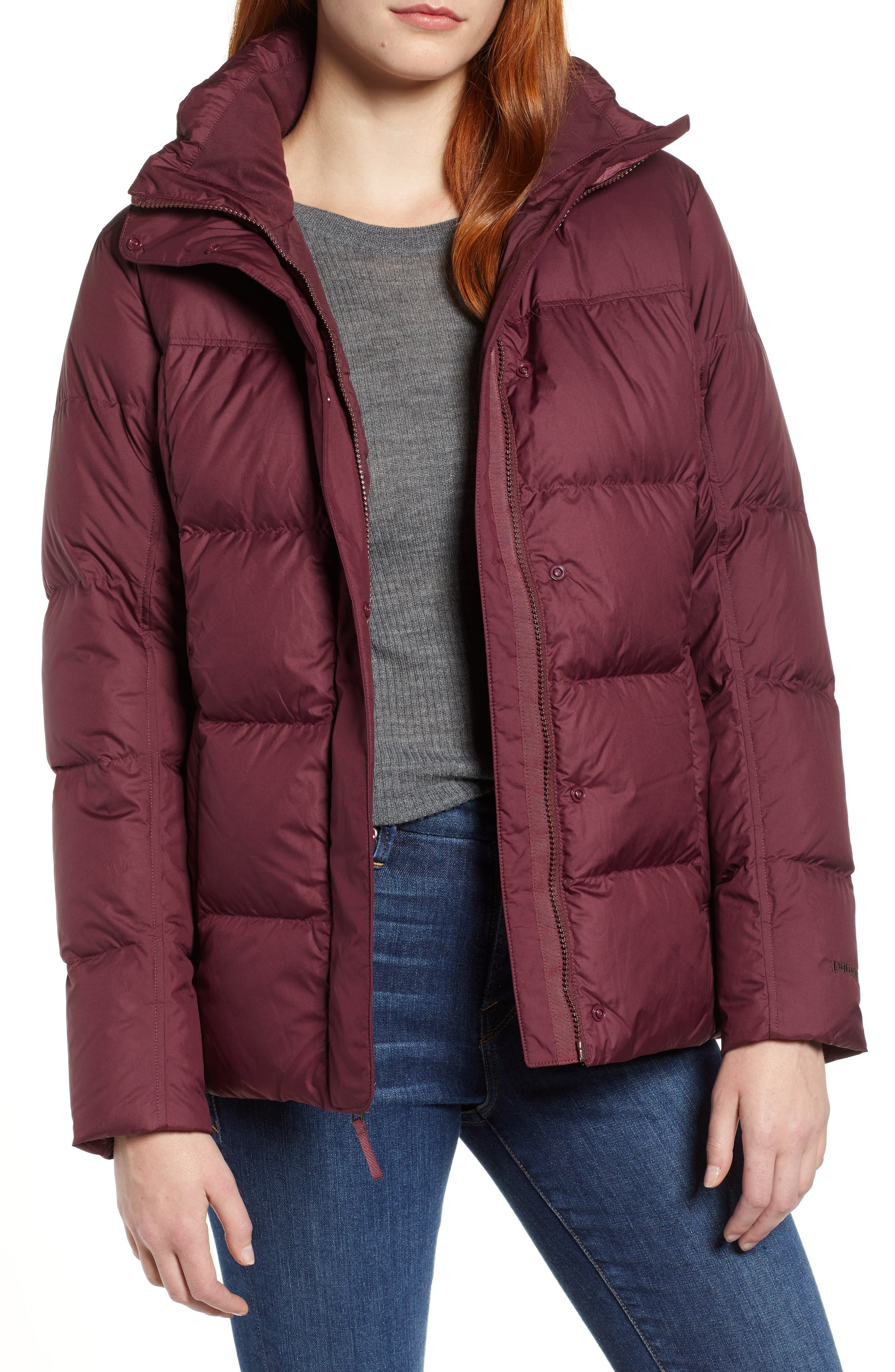 Patagonia Down With It Water Repellent Jacket, Burgundy