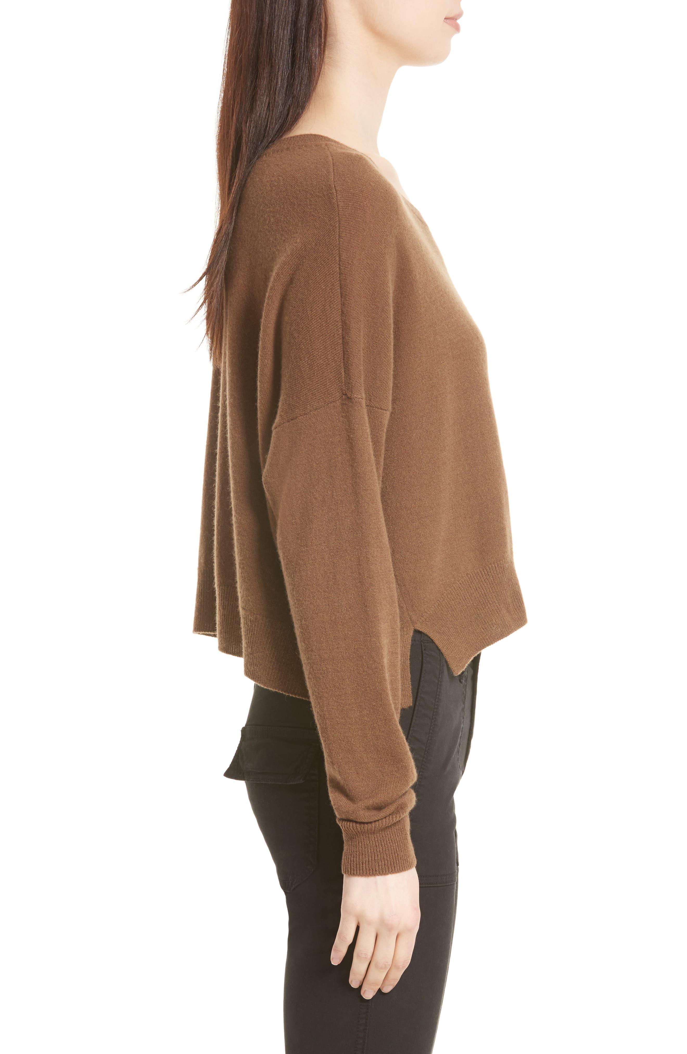 Crop Cashmere Sweater,                             Alternate thumbnail 6, color,