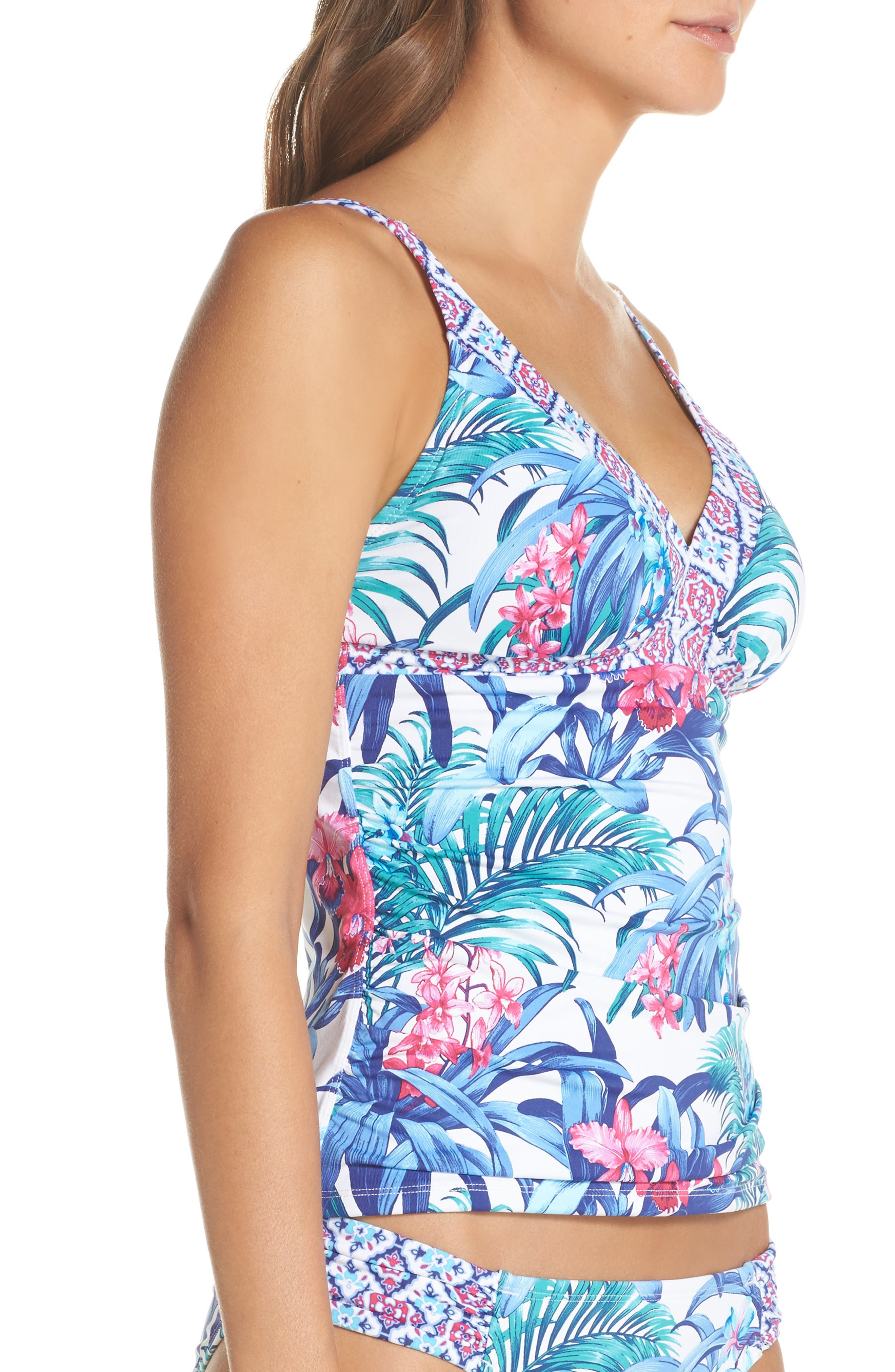 Majorelle Tankini Top,                             Alternate thumbnail 3, color,                             100