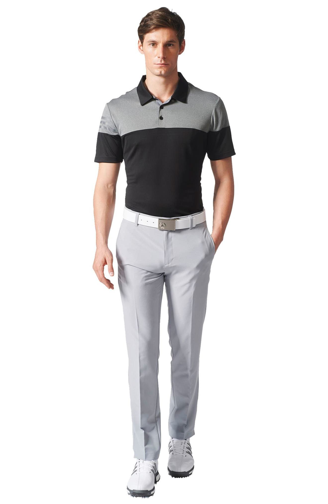 3 Stripe Block Golf Polo,                             Alternate thumbnail 6, color,                             001