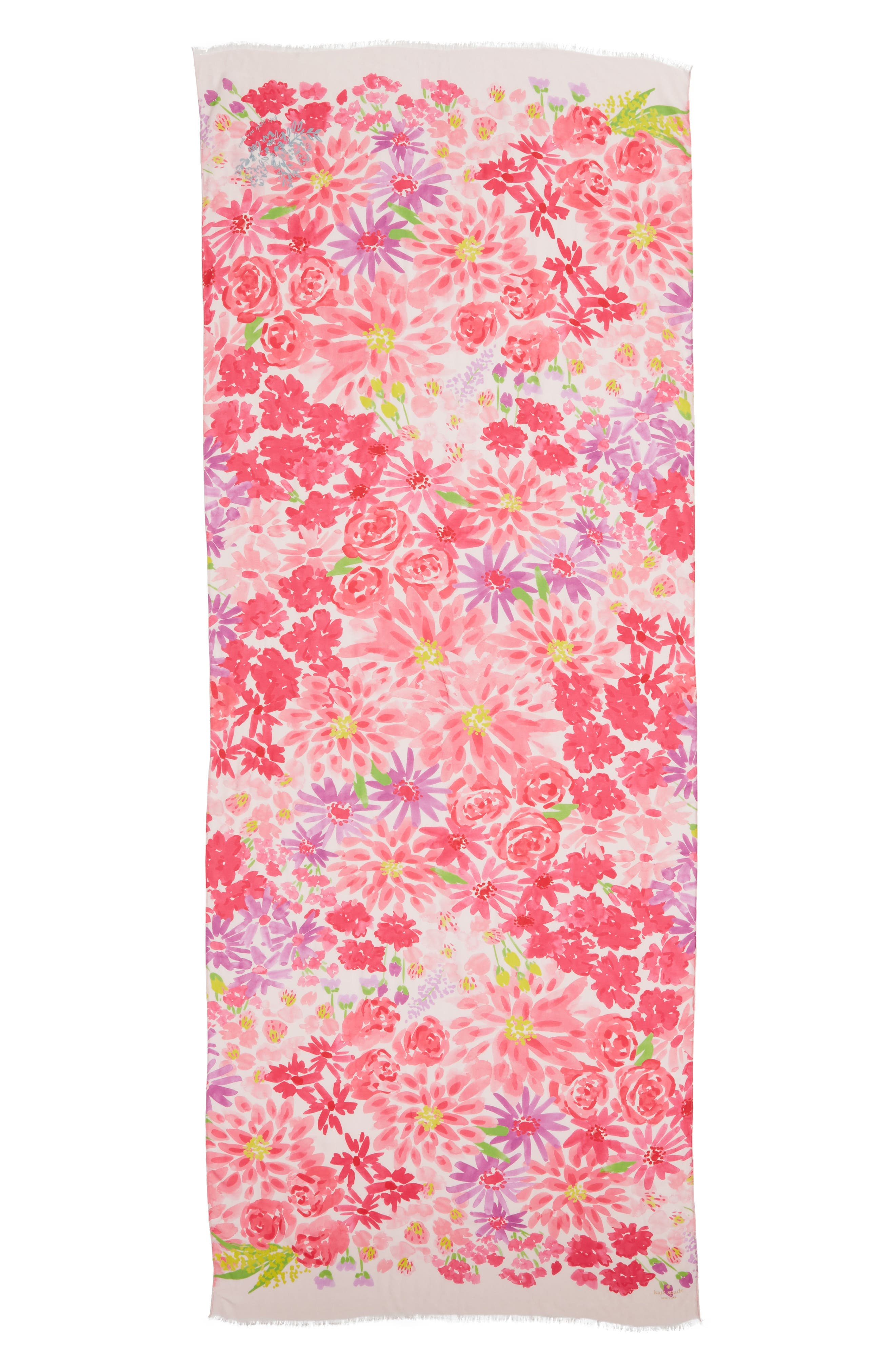 deli flowers scarf,                             Alternate thumbnail 3, color,                             CREAM