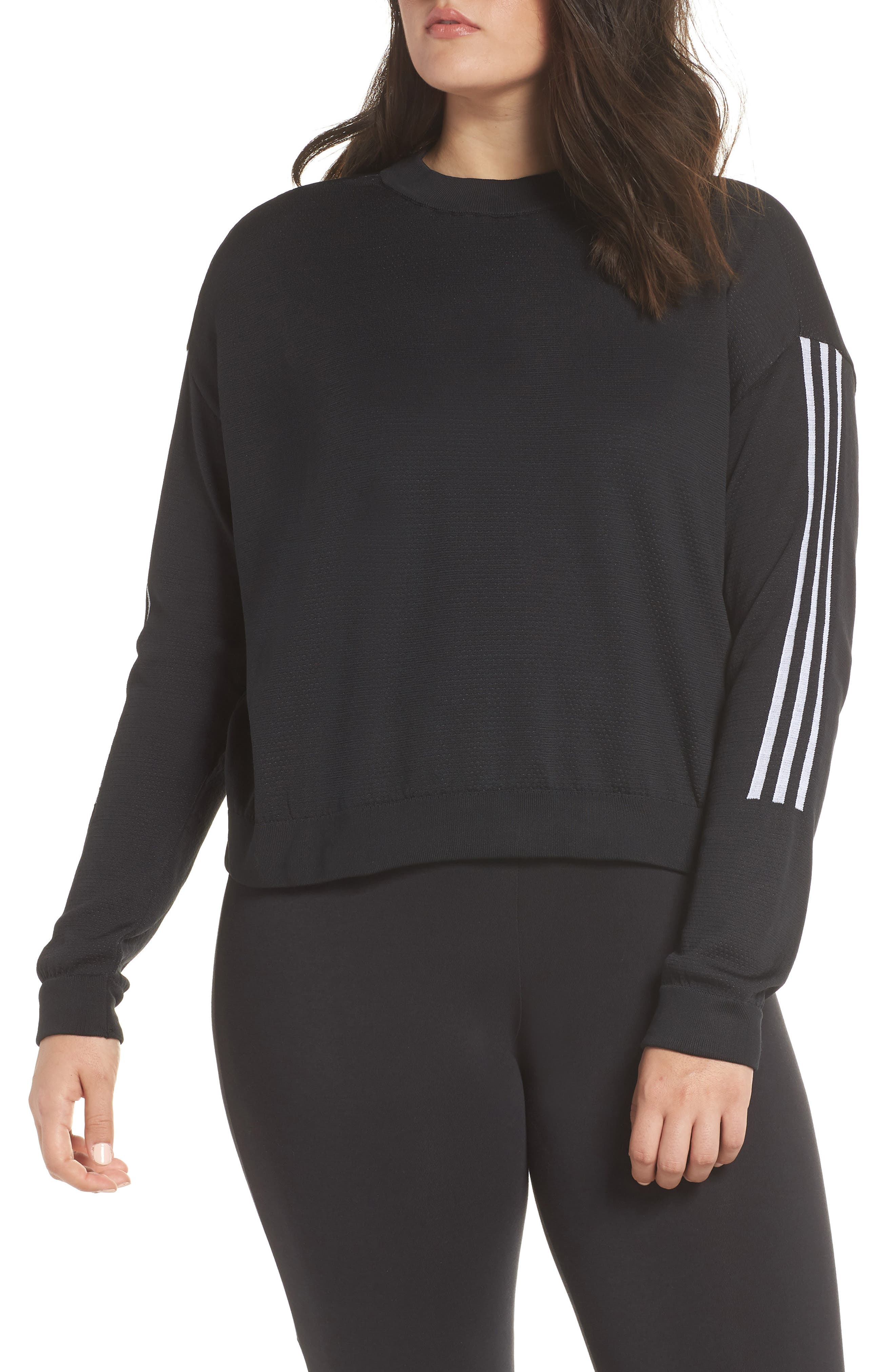 ID Knit Sweatshirt,                             Alternate thumbnail 2, color,                             001