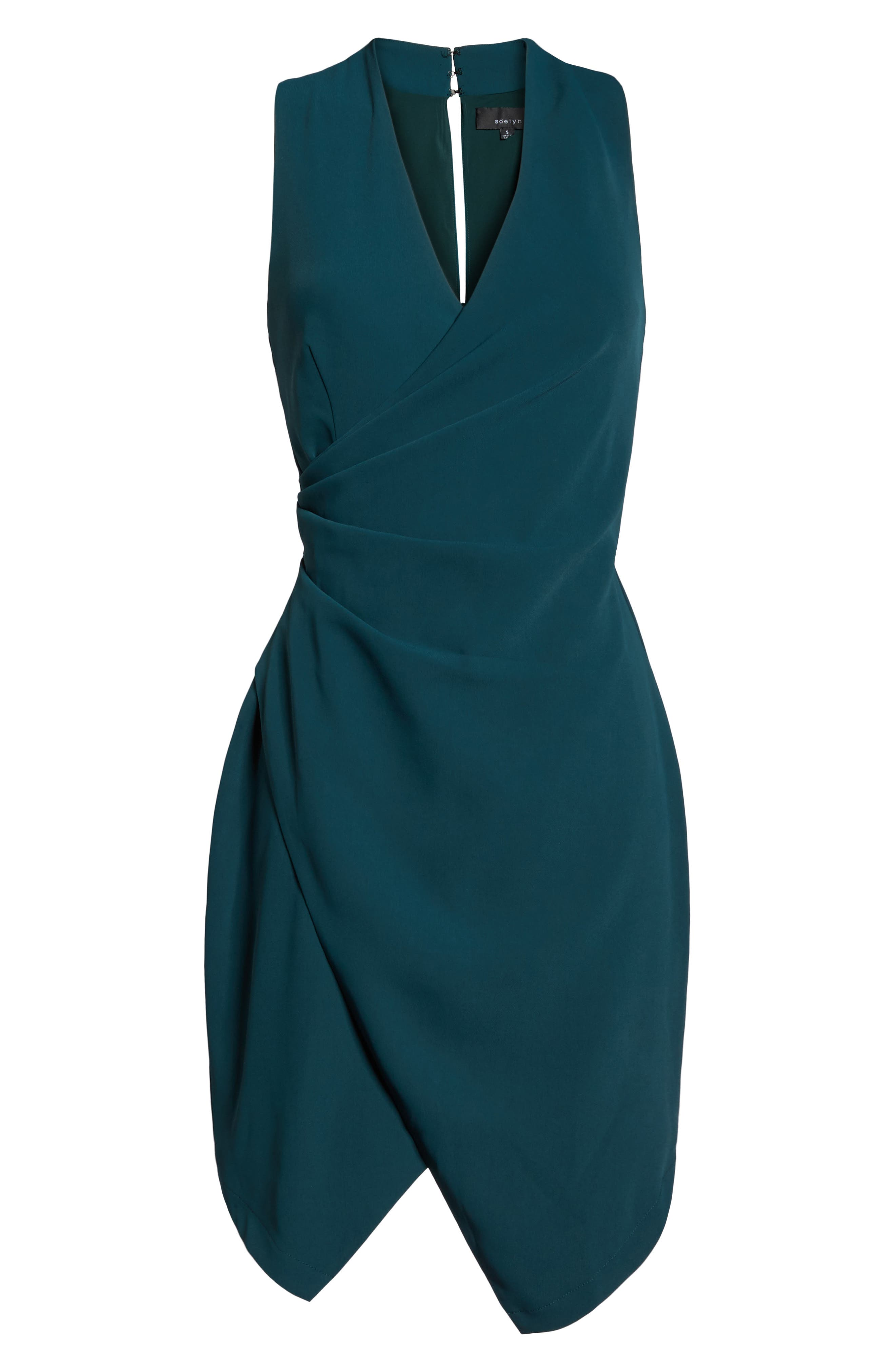 Teri Faux Wrap Sheath Dress,                             Alternate thumbnail 6, color,                             401