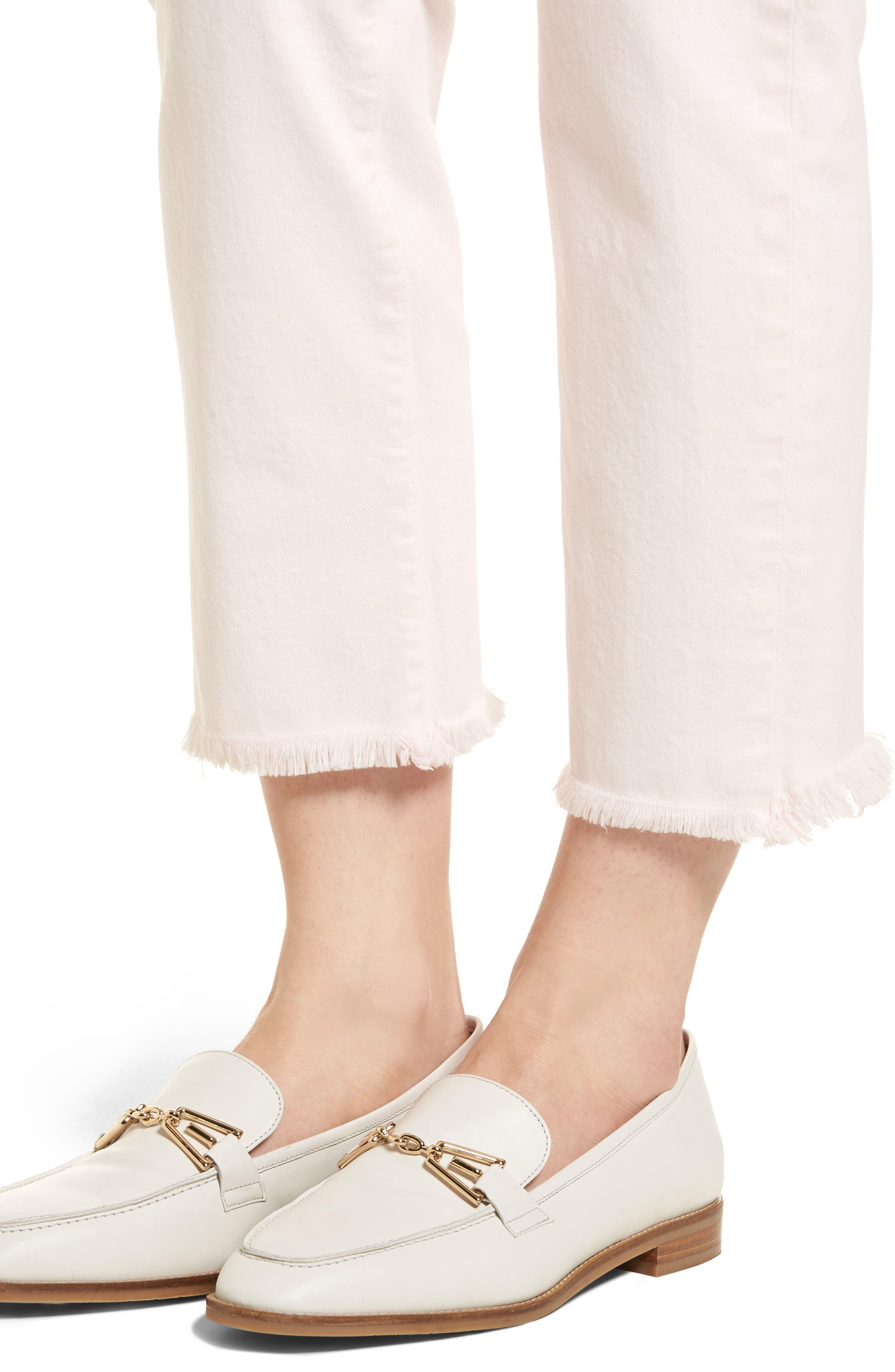 Hoxton High Waist Ankle Straight Leg Jeans,                             Alternate thumbnail 4, color,                             650