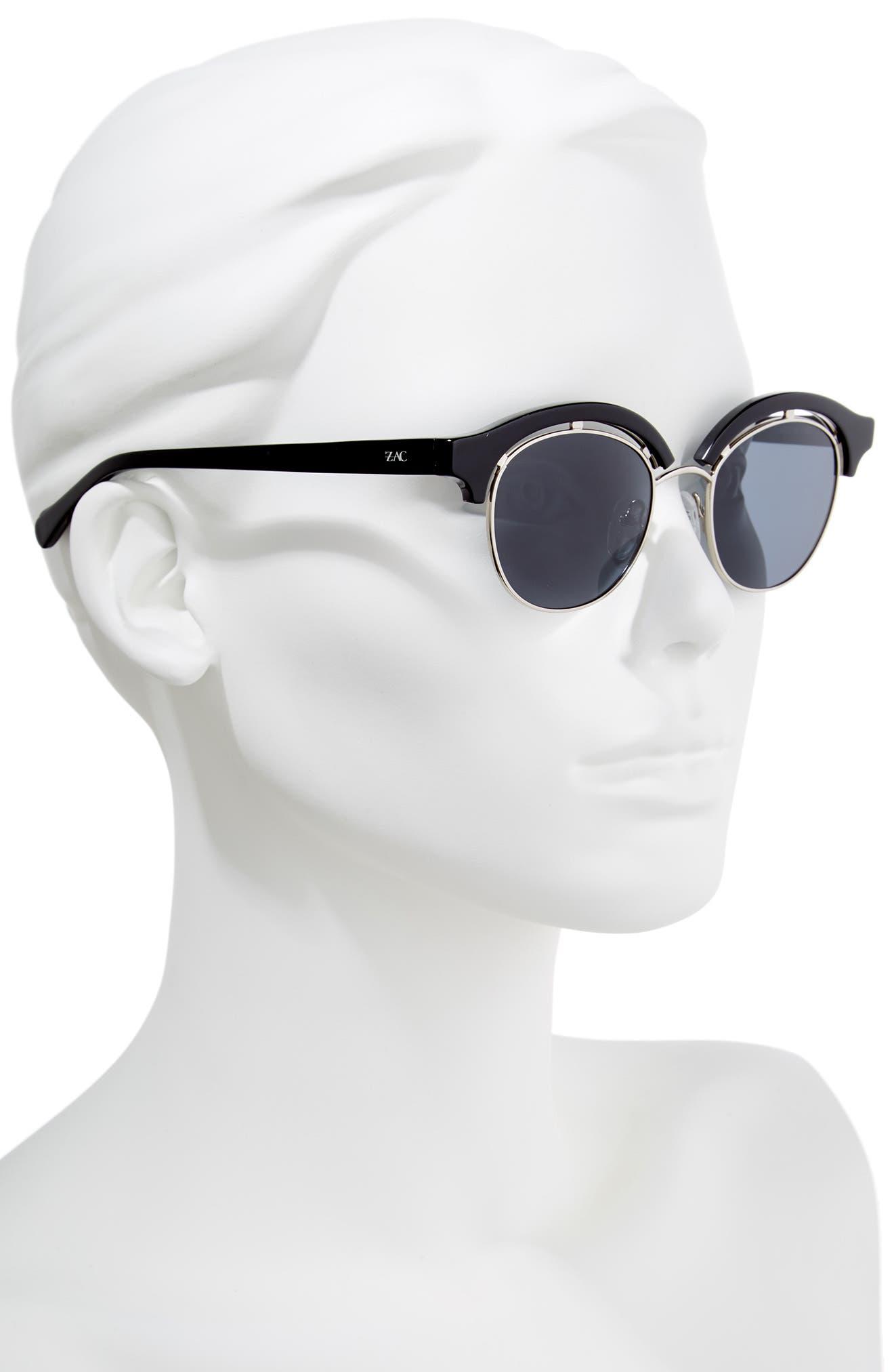 Pomona 48mm Polarized Sunglasses,                             Alternate thumbnail 2, color,                             BLACK POLAR