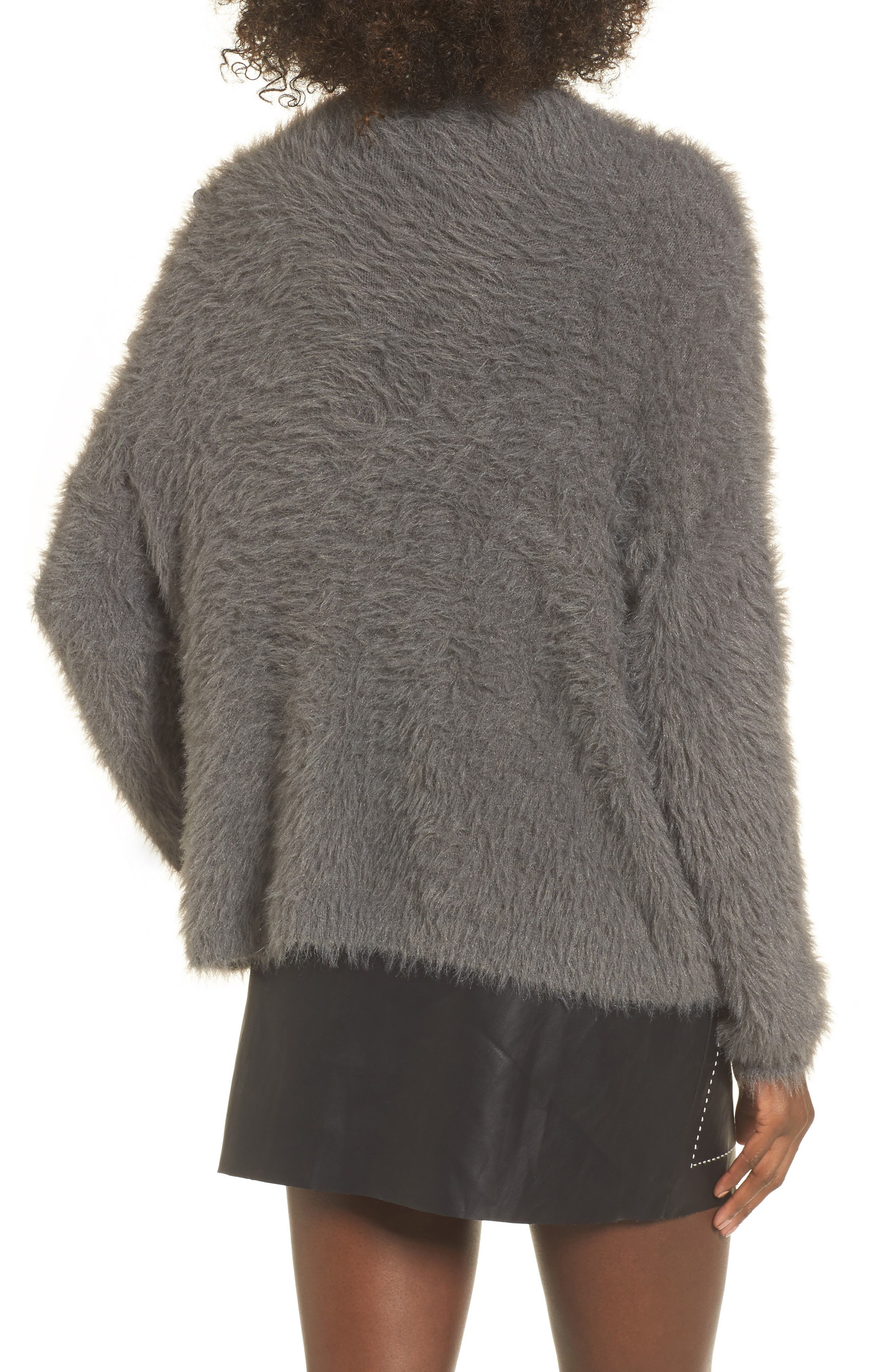 Embellished Faux Fur Sweater,                             Alternate thumbnail 2, color,                             021