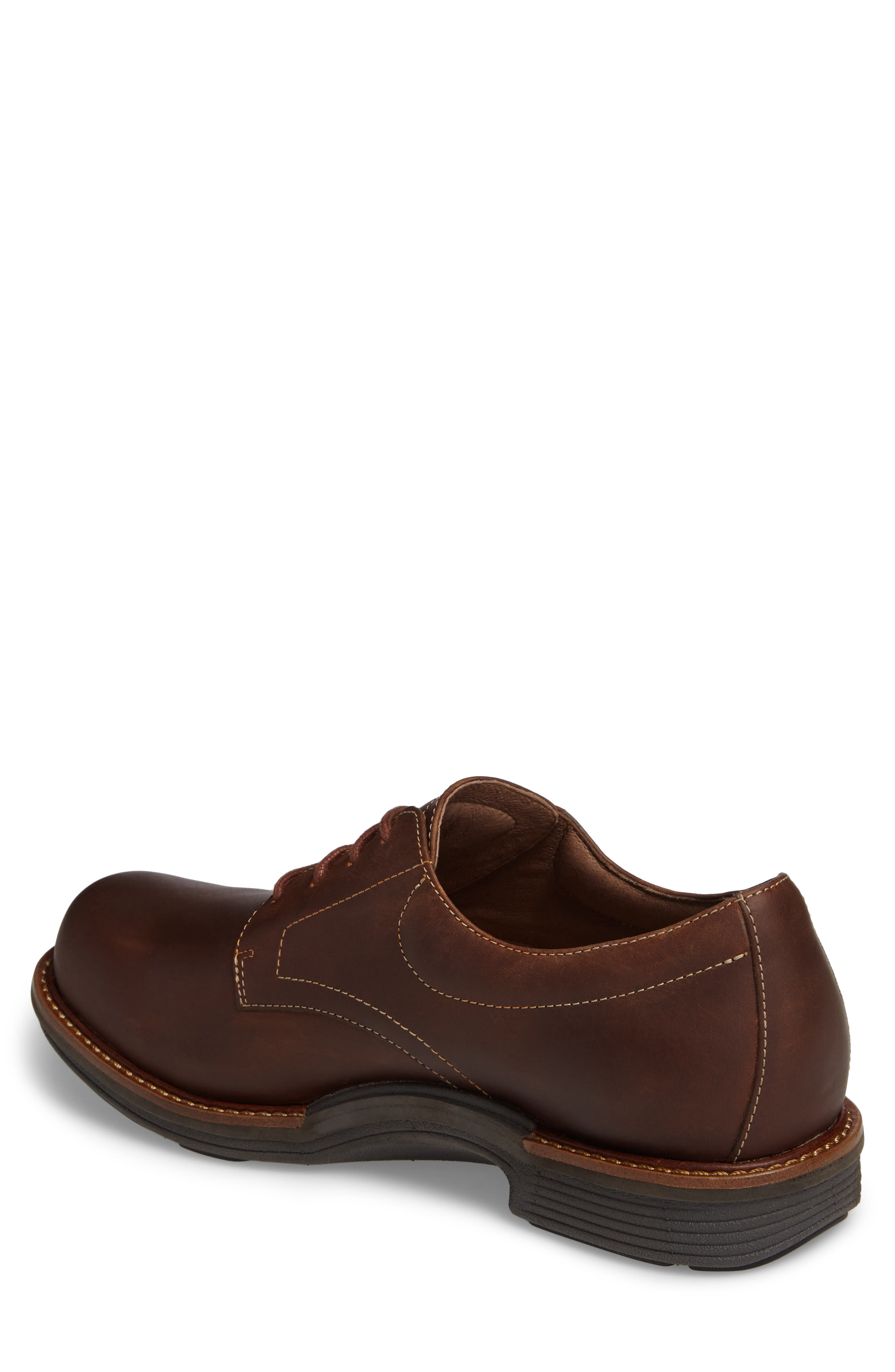 'Josh' Plain Toe Derby,                             Alternate thumbnail 2, color,                             BROWN PULL-UP LEATHER