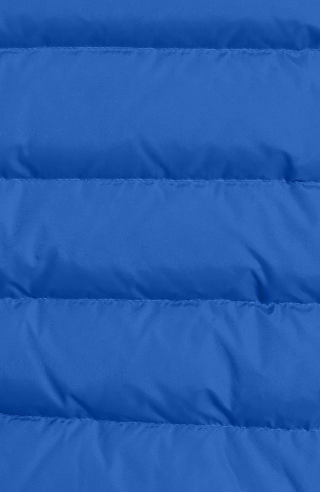 'Vonne' Nylon Down Puffer Jacket,                             Alternate thumbnail 3, color,                             BLUE