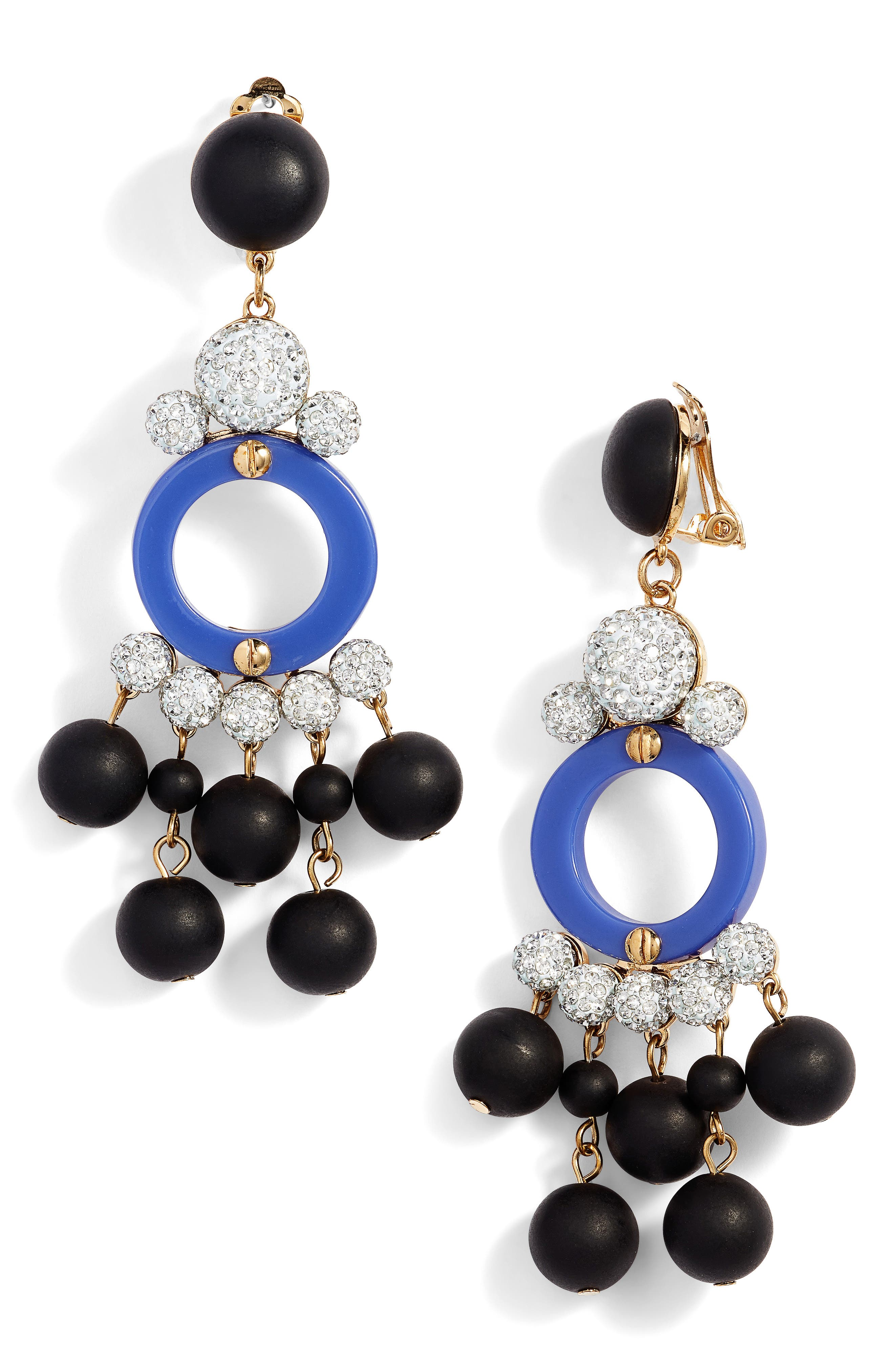 Boulevard Clip Drop Earrings,                         Main,                         color, 001