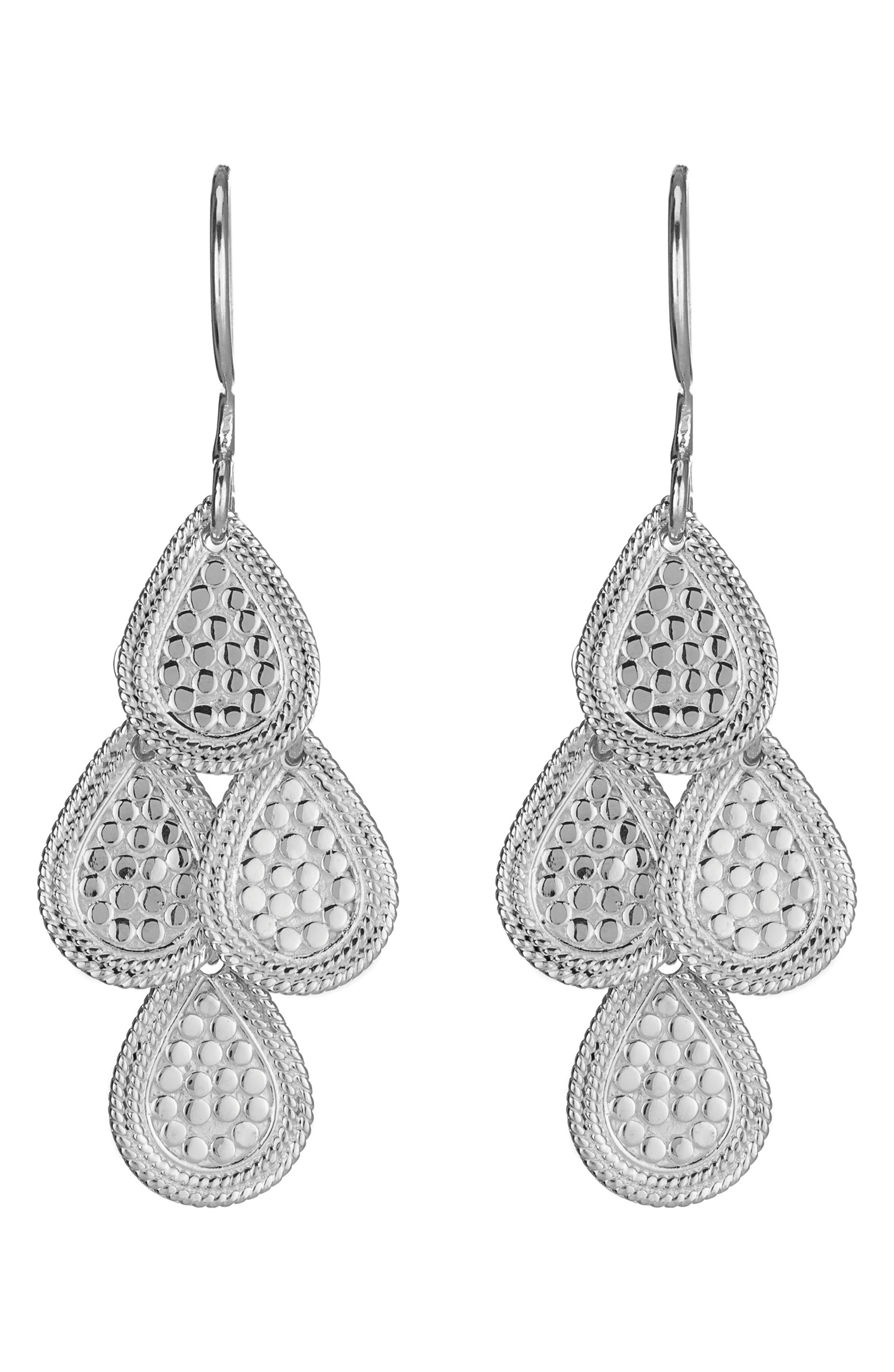 'Gili' Chandelier Earrings,                         Main,                         color, STERLING SILVER